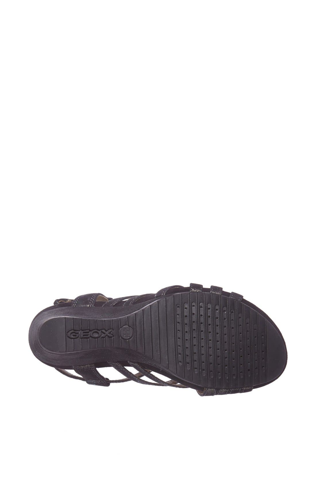 Alternate Image 4  - Geox 'Roxy' Metallic Leather Sandal (Women)