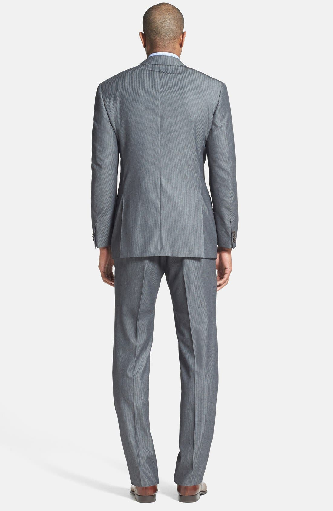 Alternate Image 2  - Canali Classic Fit Herringbone Suit