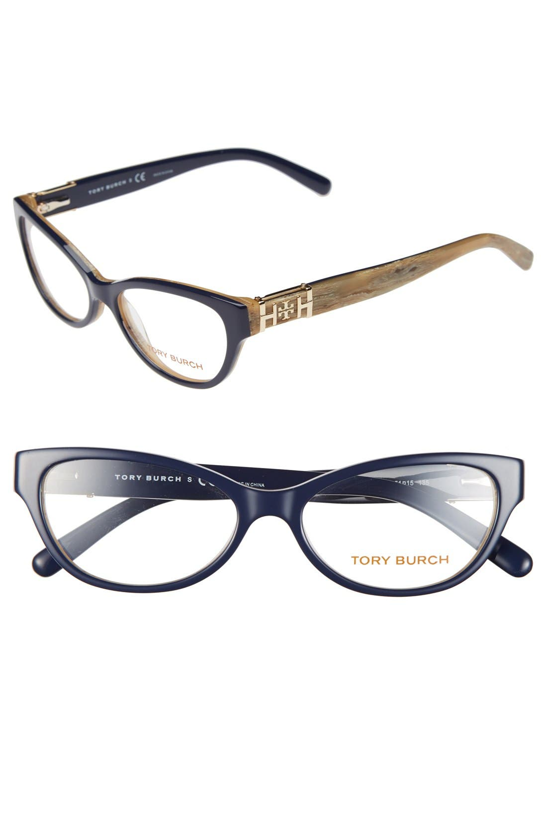 Alternate Image 1 Selected - Tory Burch 51mm Cat Eye Optical Glasses