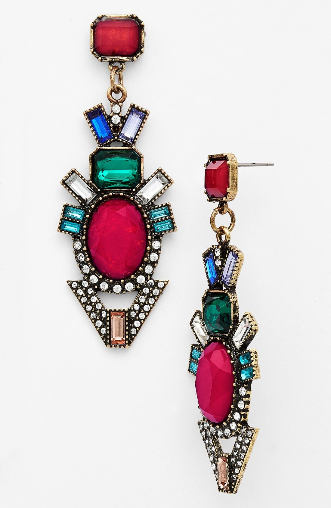 Alternate Image 1 Selected - BaubleBar 'Deco Drama' Mixed Stone Drop Earrings (Nordstrom Exclusive)