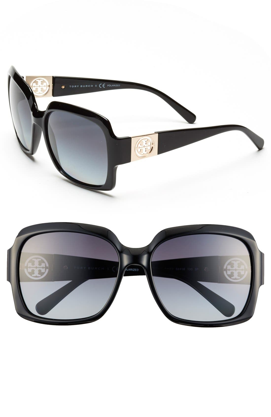 Main Image - Tory Burch 59mm Polarized Sunglasses