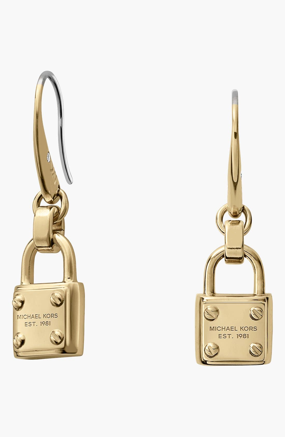 Alternate Image 1 Selected - Michael Kors 'Padlock' Drop Earrings