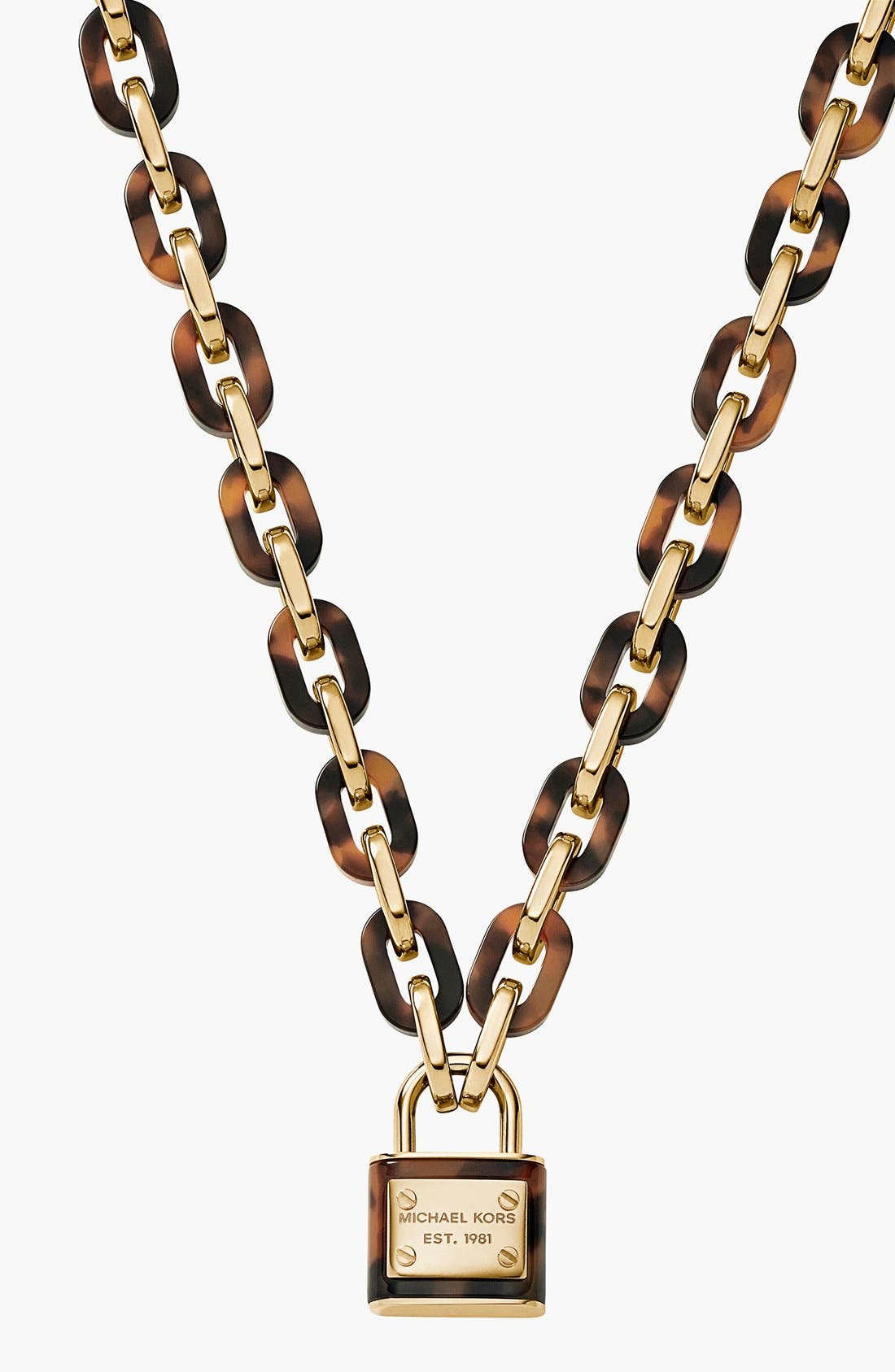 Main Image - Michael Kors 'Motif Brilliance' Padlock Pendant Necklace