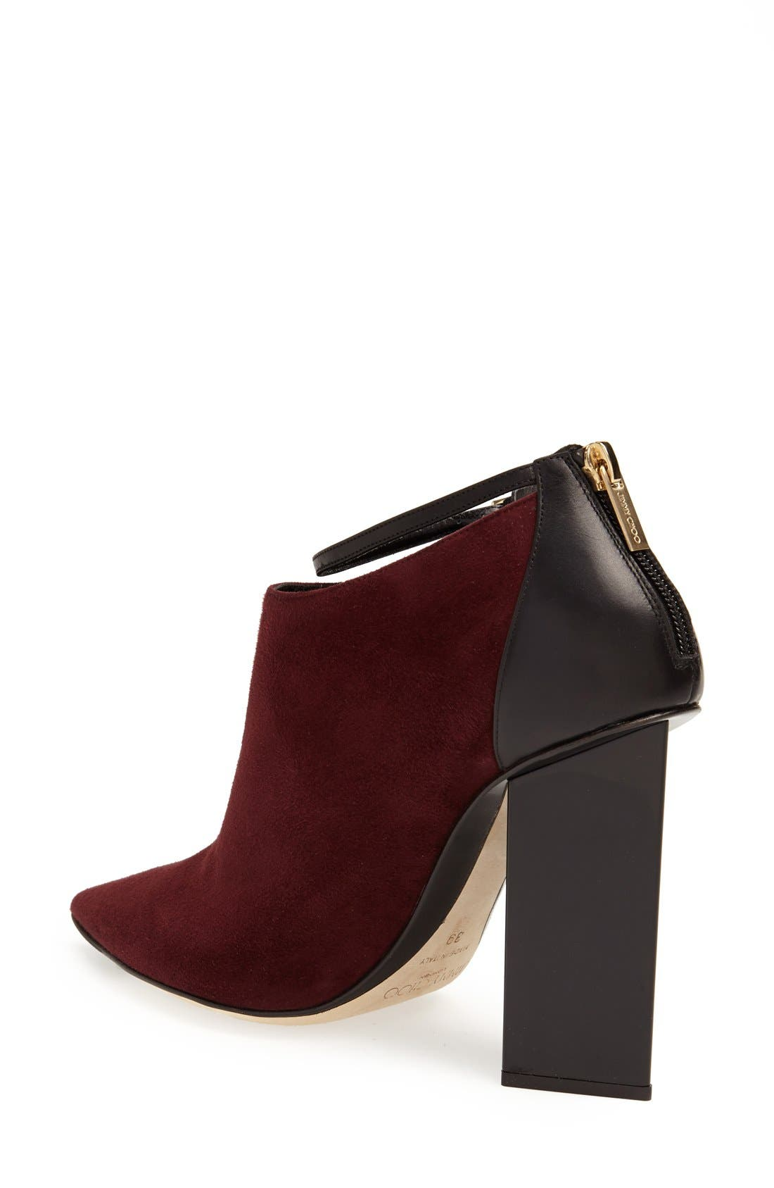'Vanish' Leather Bootie,                             Alternate thumbnail 2, color,                             Mirto