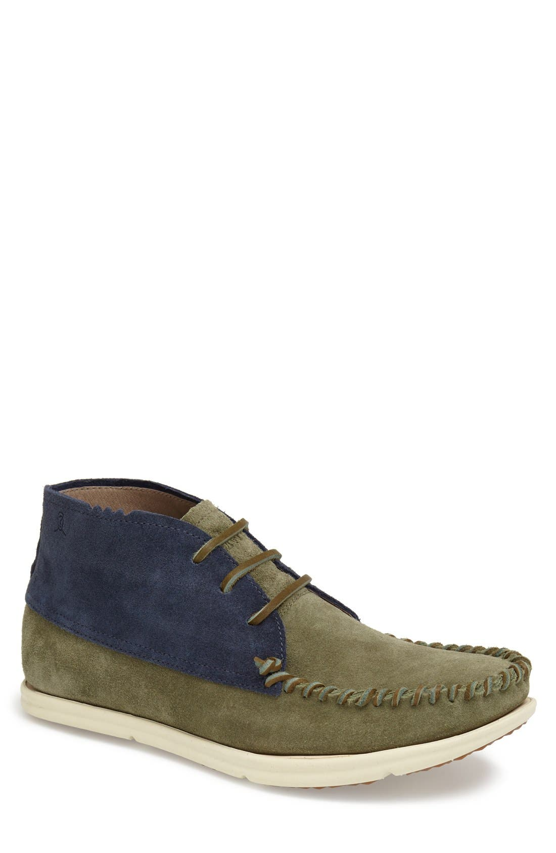 Alternate Image 1 Selected - ohw? 'Louis' Two Tone Suede Moc Toe Boot (Men)