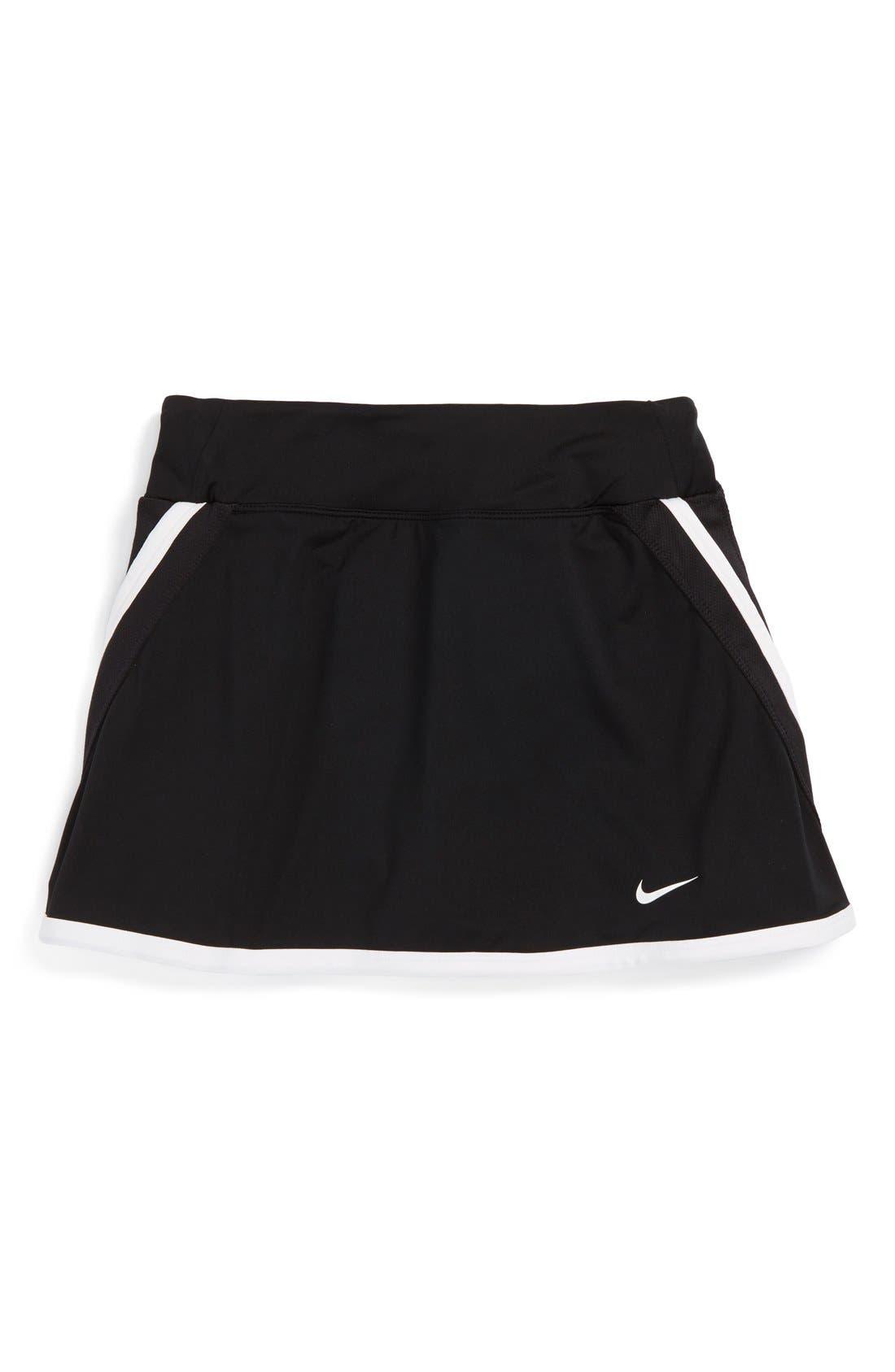 Alternate Image 1 Selected - Nike 'Power' Dri-FIT Tennis Skirt (Big Girls)
