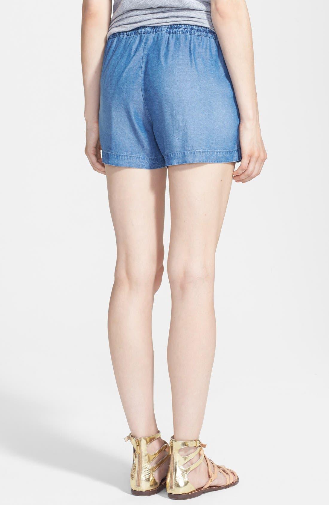 Alternate Image 2  - Splendid Indigo Dye Shorts
