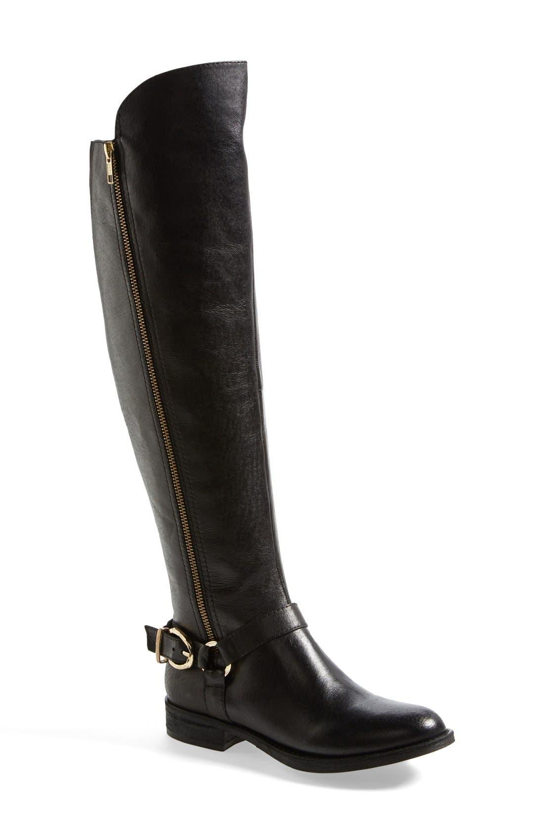 Steve Madden Womens Brown Boots Leather Skippur