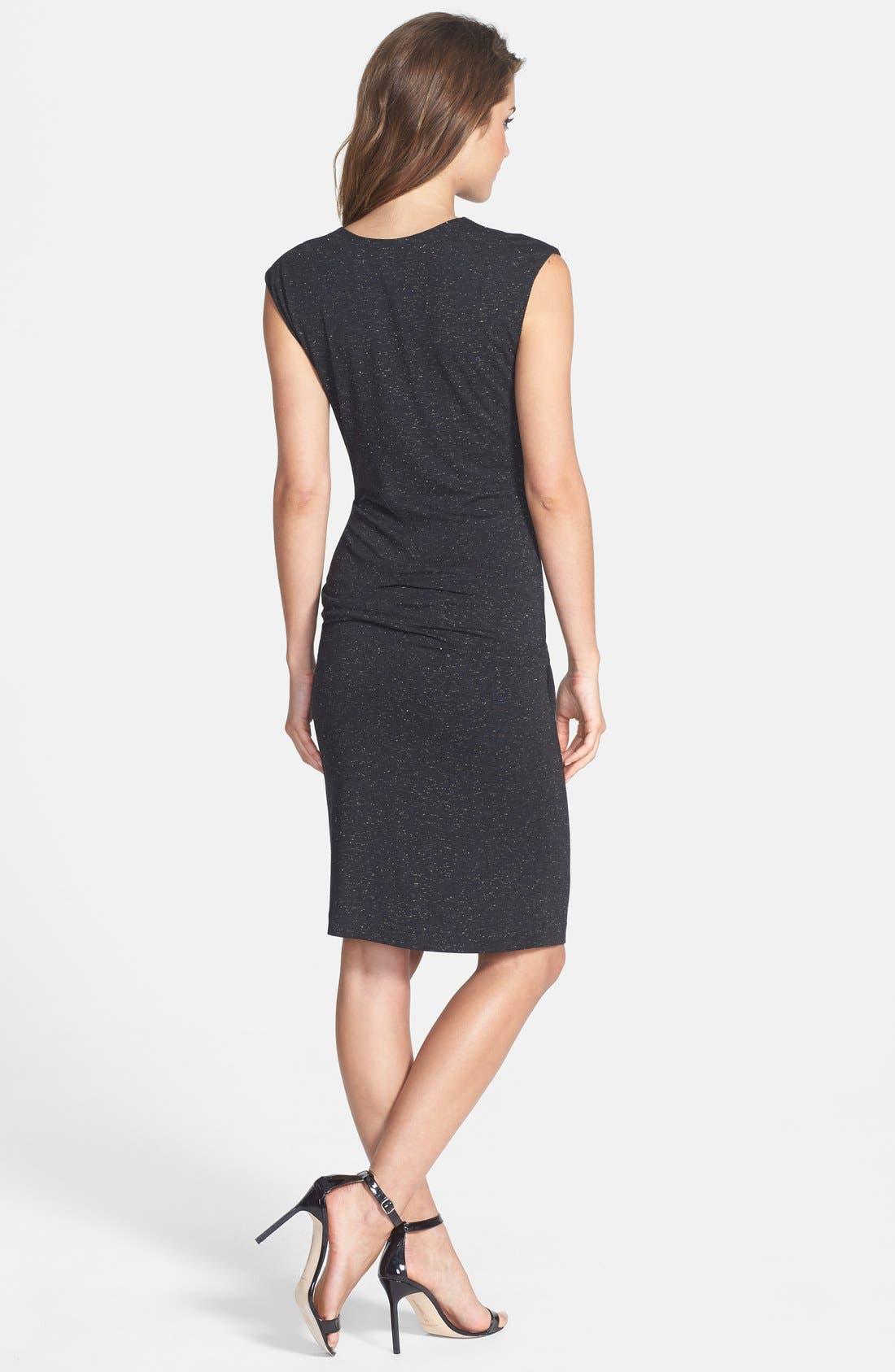 Alternate Image 2  - Nicole Miller Speckled Metallic Jersey Dress