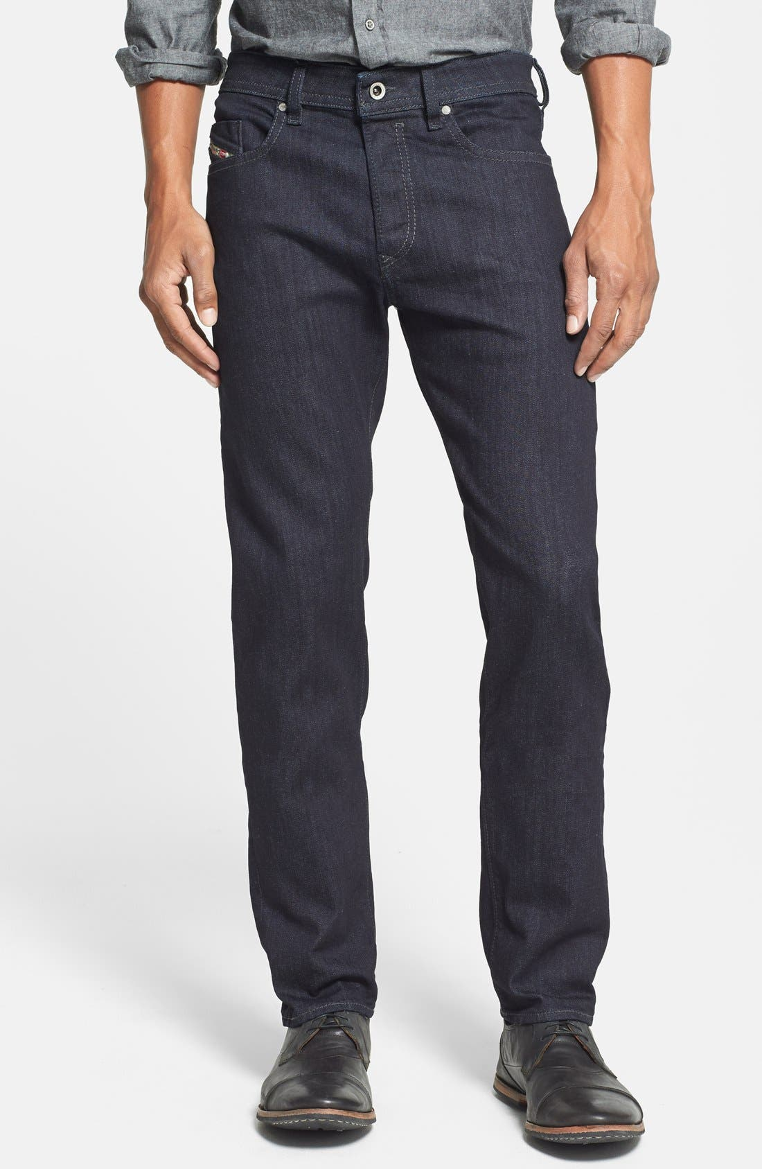 DIESEL® 'Buster' Straight Leg Jeans (0607A)