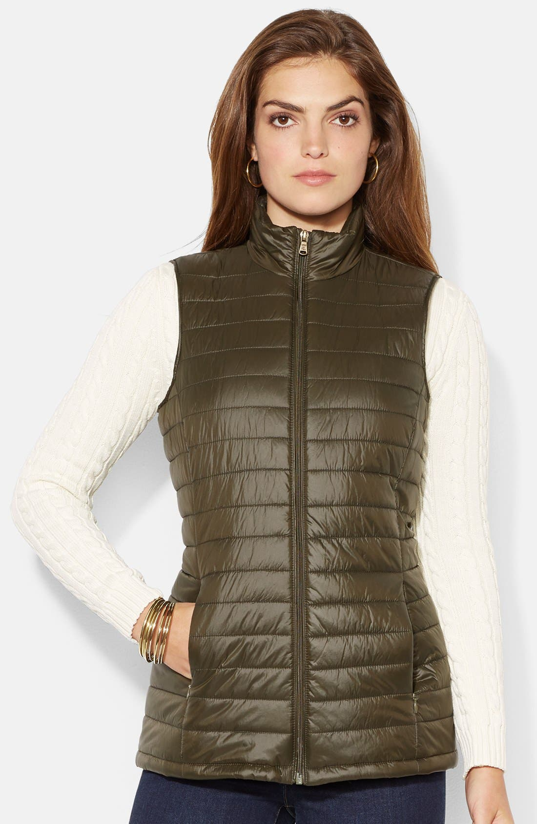 Alternate Image 3  - Lauren Ralph Lauren Two-in-One Anorak with Removable Quilted Vest