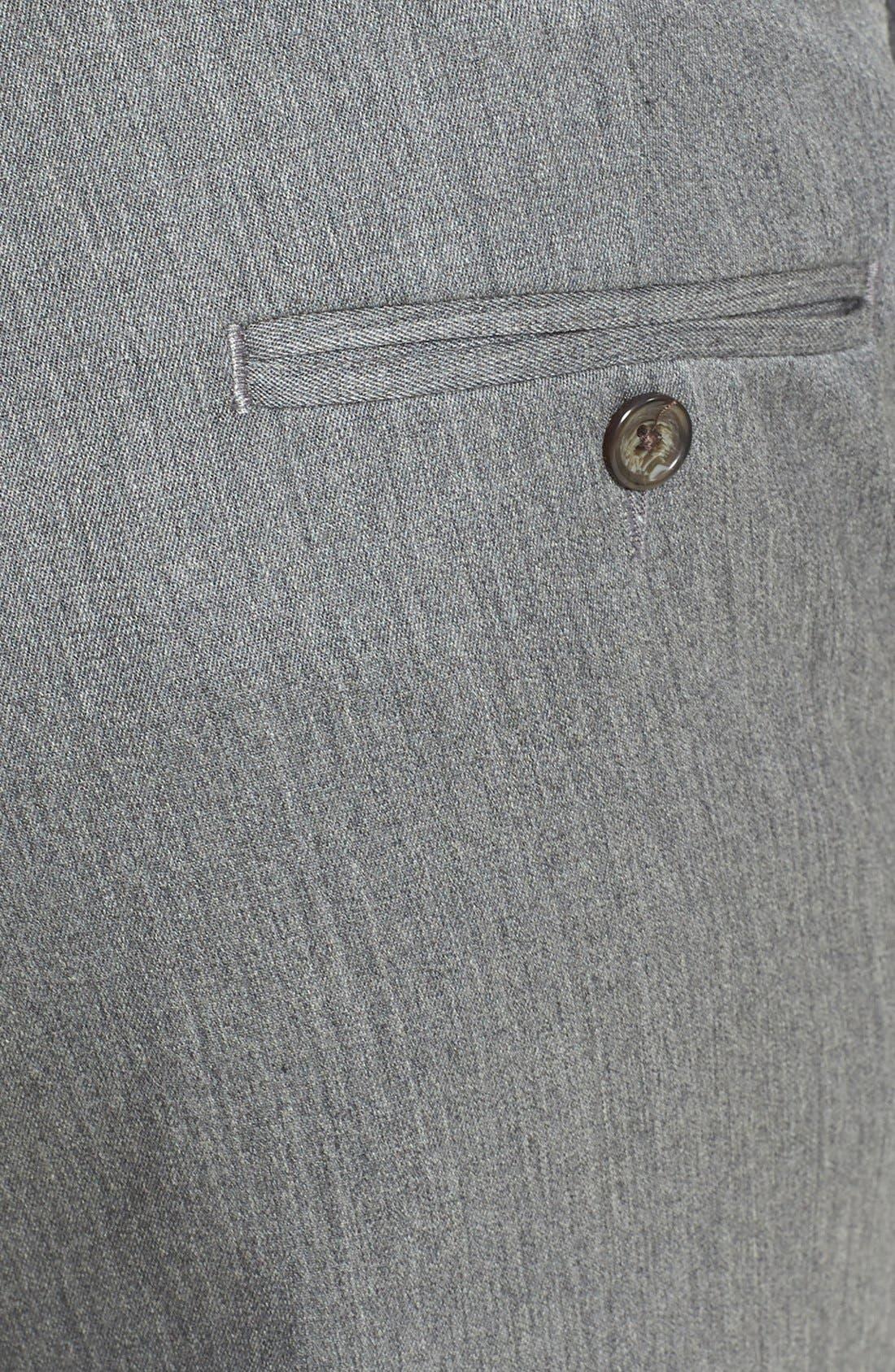 Alternate Image 2  - Berle Self Sizer Waist Flat Front Wool Gabardine Trousers