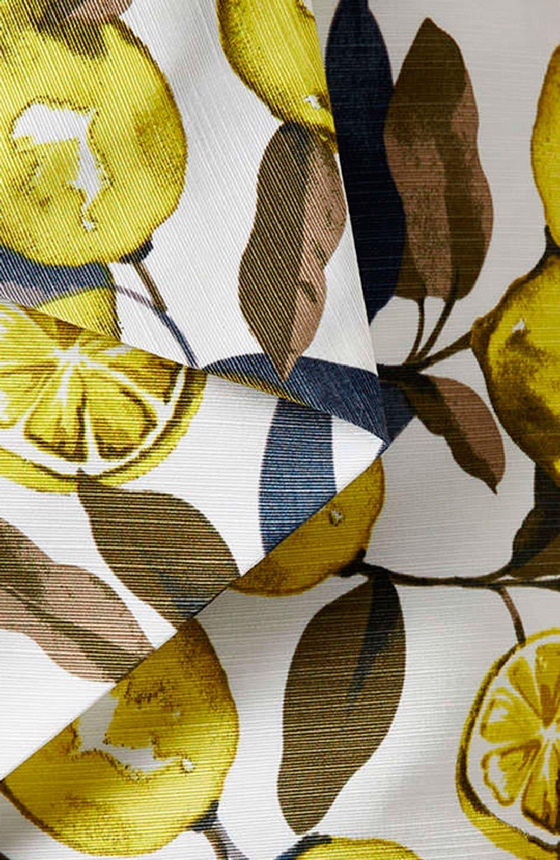 Alternate Image 4  - Topshop Lemon Print Pointed Hem Skort (Regular & Petite)