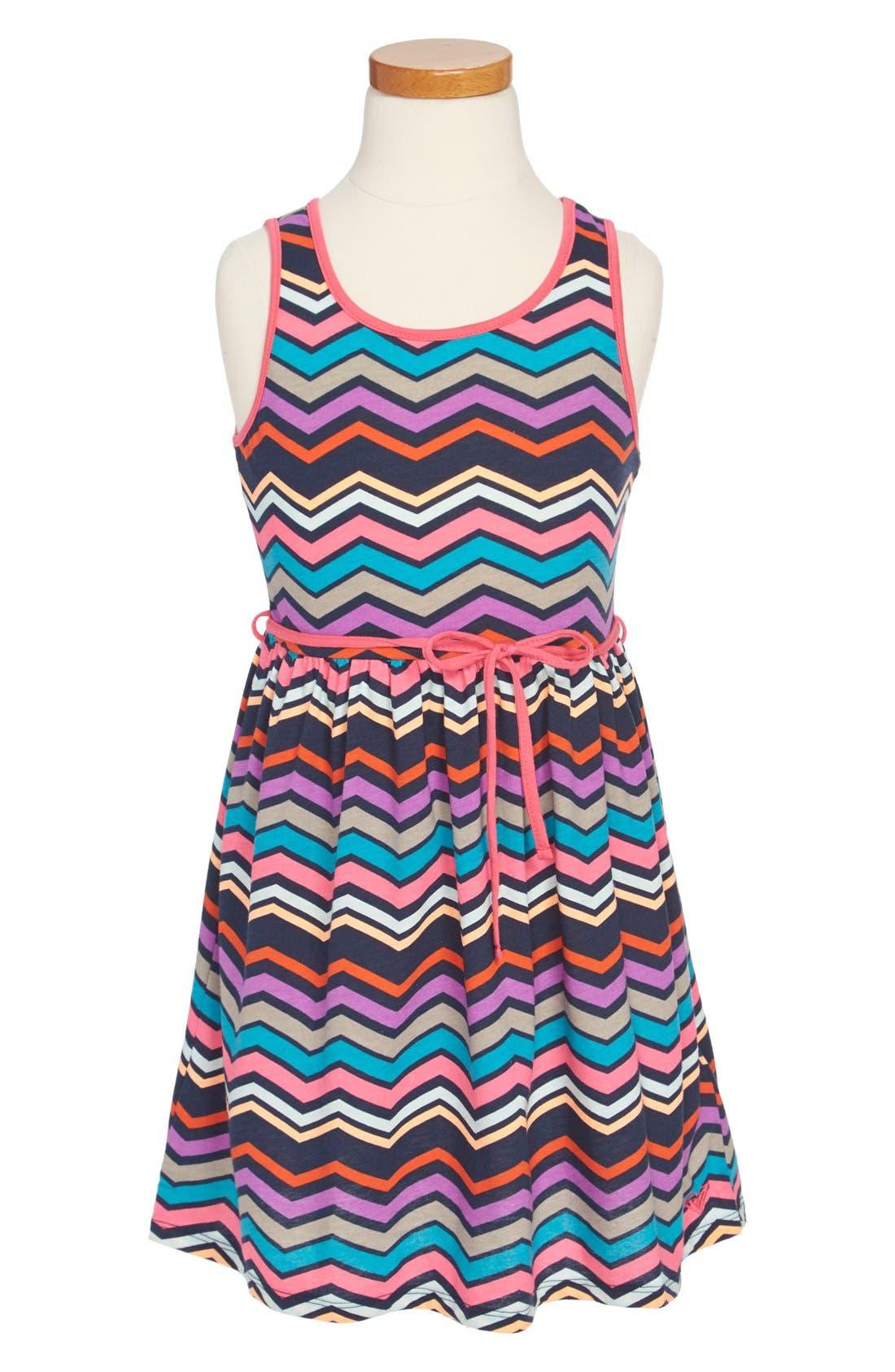 Alternate Image 1 Selected - Roxy 'Sweltering Heart' Tank Dress (Toddler Girls)