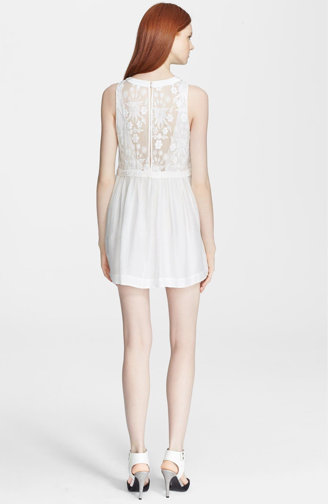 Alternate Image 2  - Elizabeth and James 'Shadia' Embroidered Silk Babydoll Dress