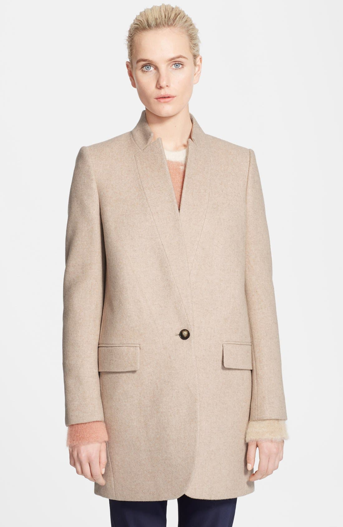 Alternate Image 2  - Stella McCartney Mélange Melton Wool Blend Coat