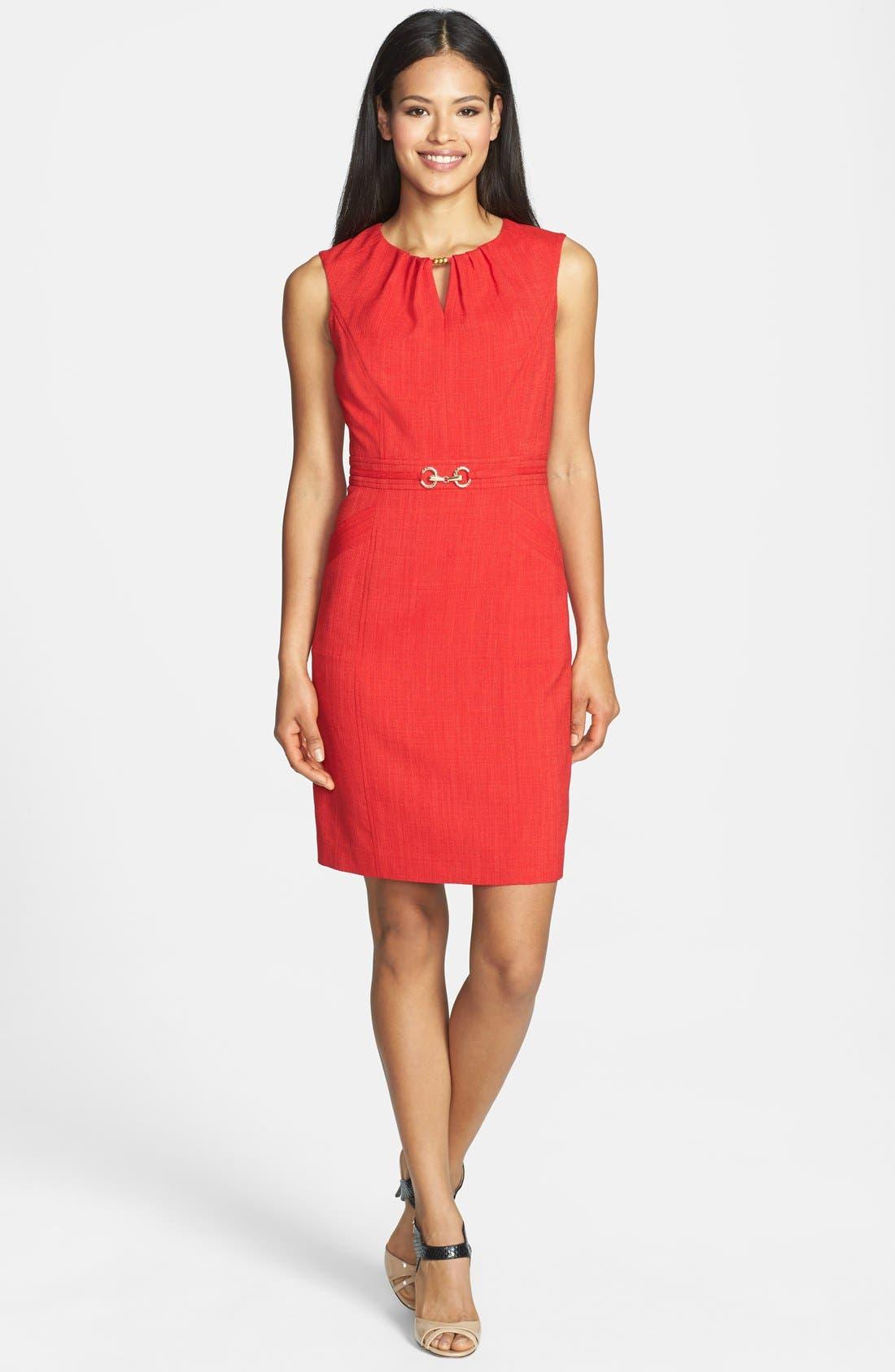 Main Image - Ellen Tracy Hardware Embellished Sheath Dress