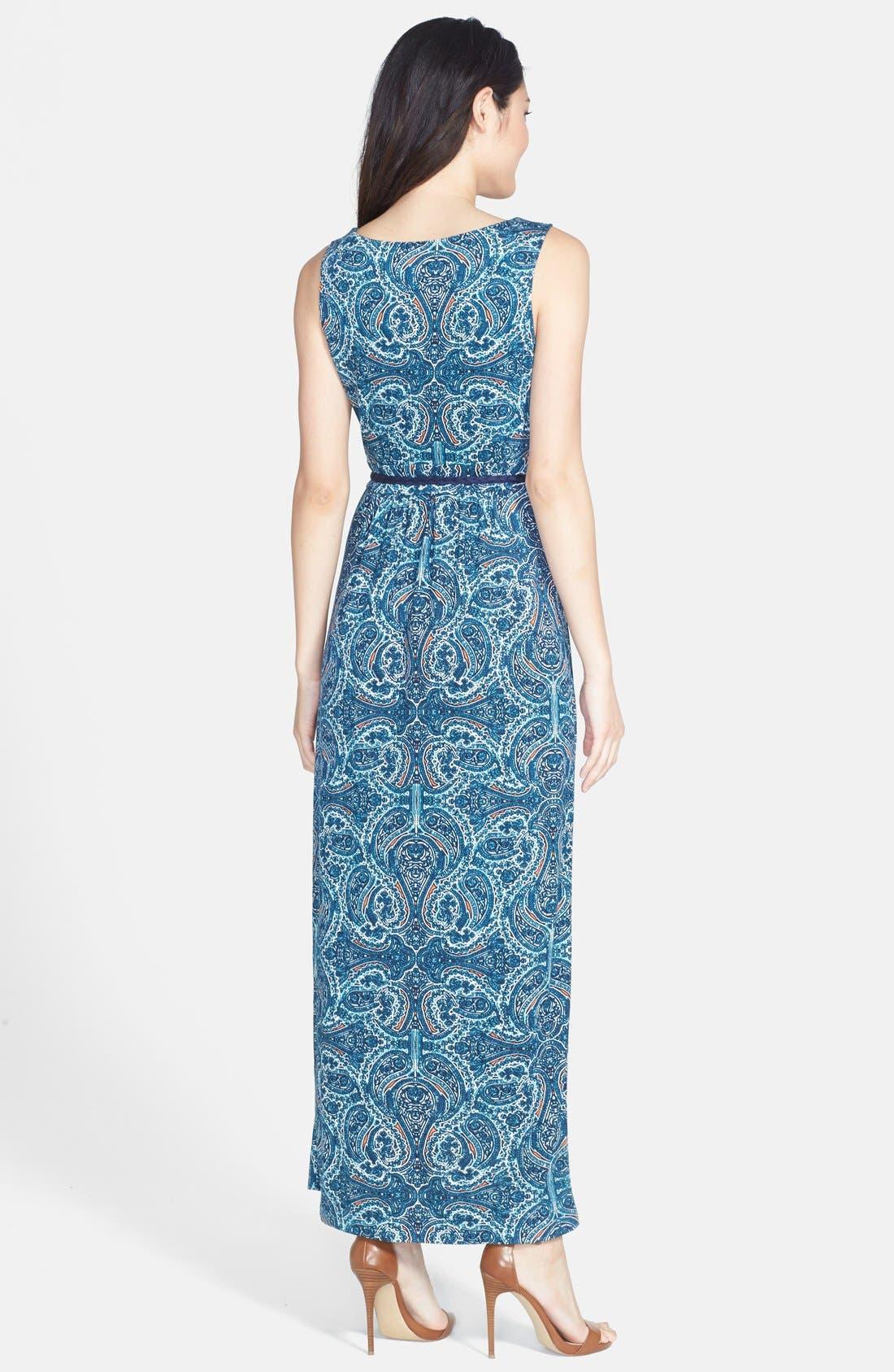 Alternate Image 2  - NIC+ZOE 'Pop of Paisley' Maxi Dress (Regular & Petite)