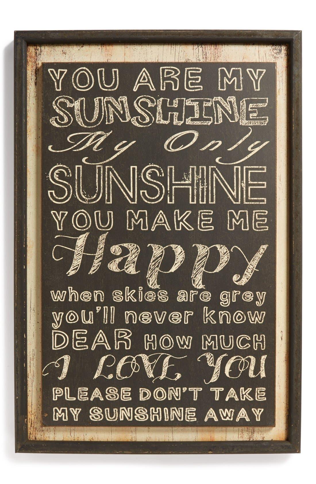 Alternate Image 1 Selected - VIP International 'You Are My Sunshine' Wall Art