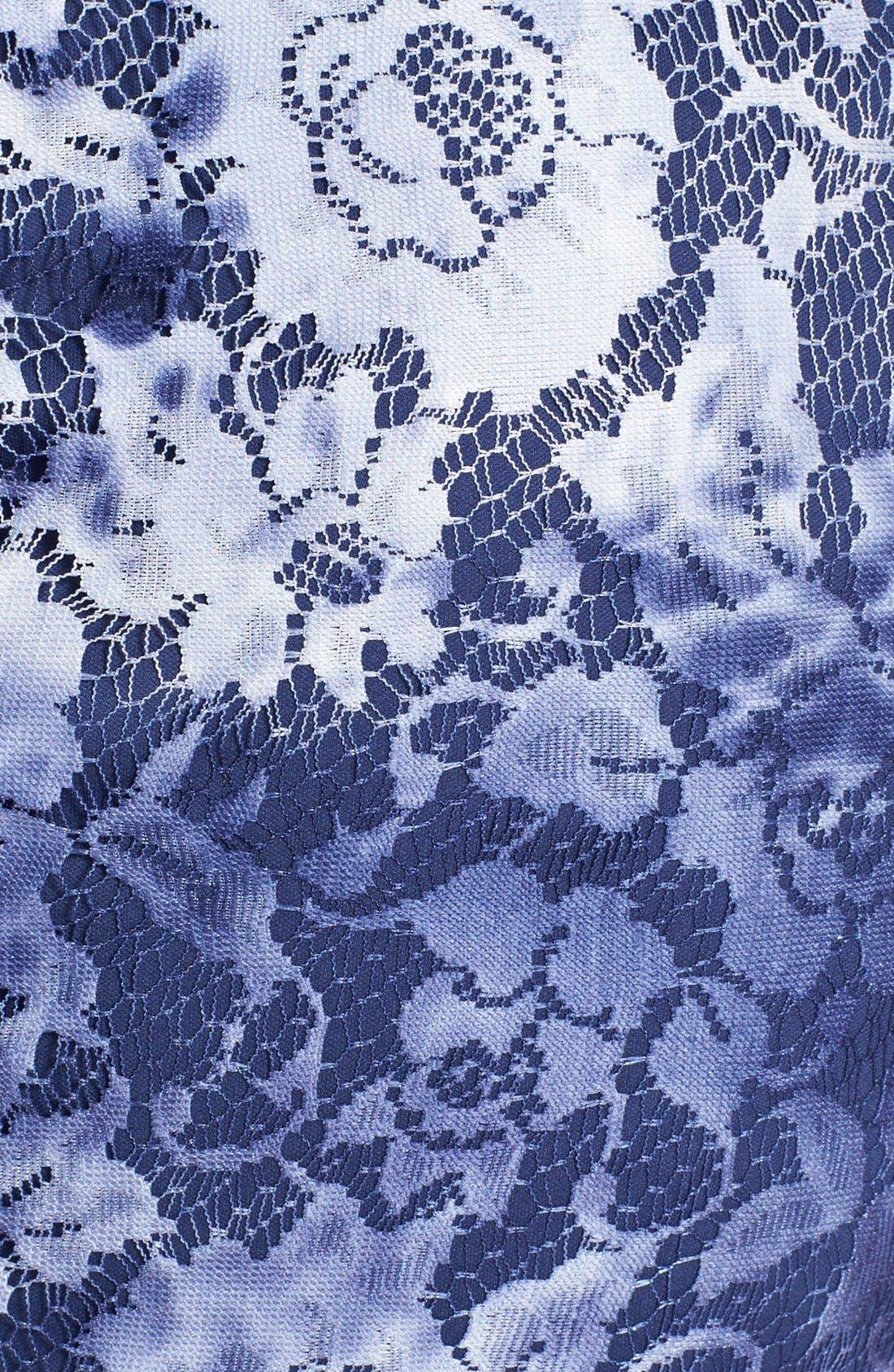 Alternate Image 4  - Adrianna Papell Tie Dye Lace Sheath Dress (Regular & Petite)