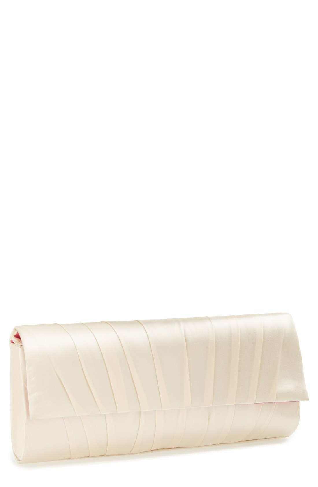 'Livana' Clutch,                             Main thumbnail 1, color,                             Champagne
