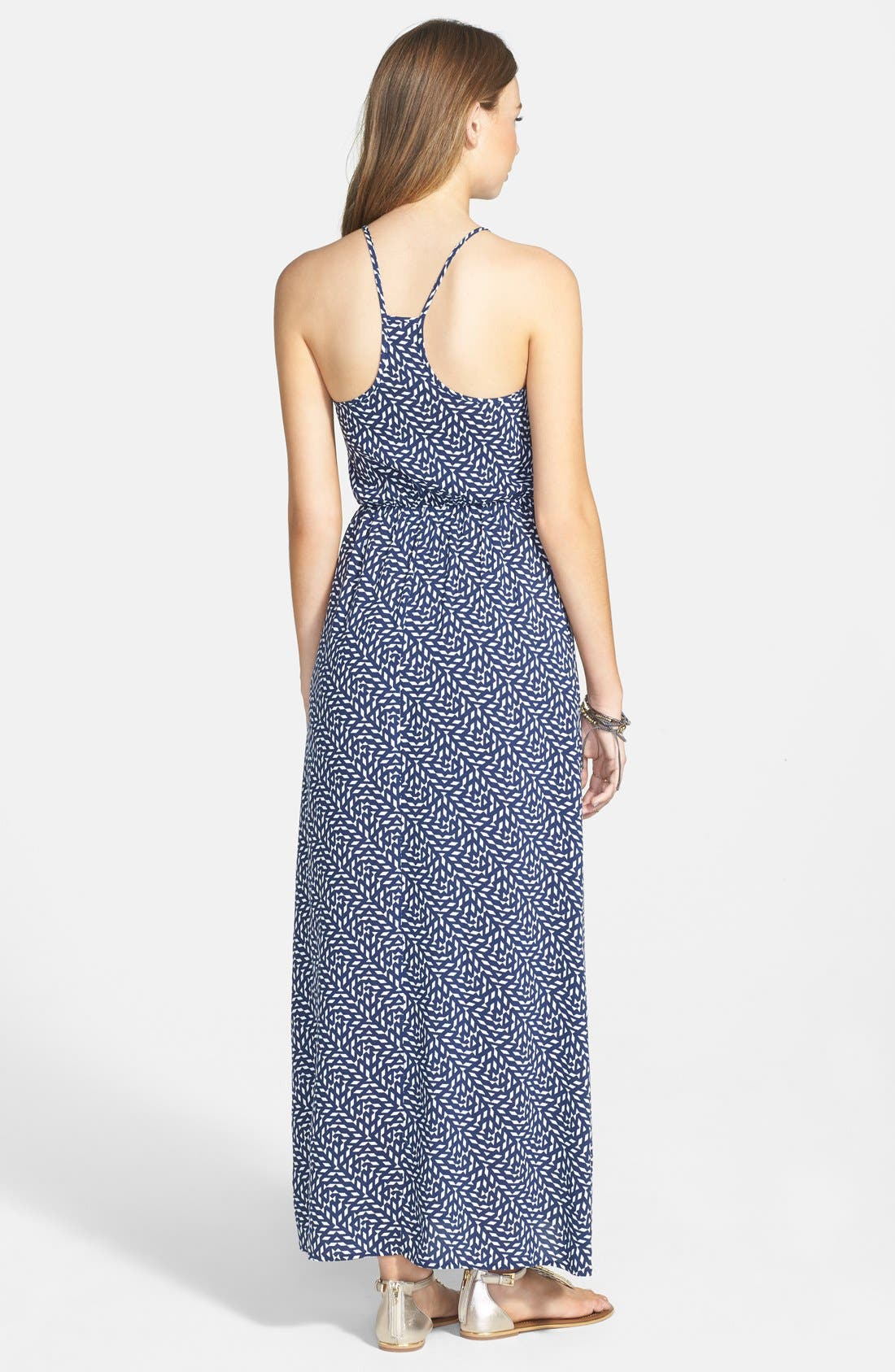 Alternate Image 2  - dee elle Embroidered Print Maxi Dress (Juniors)