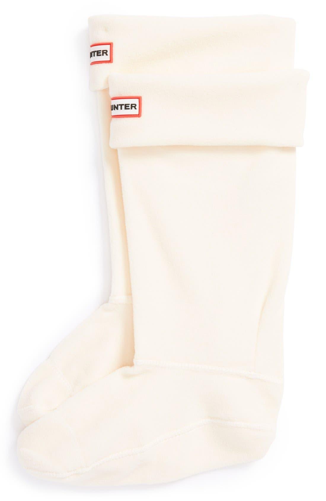 Original Tall Fleece Welly Boot Socks,                         Main,                         color, Cream Fleece