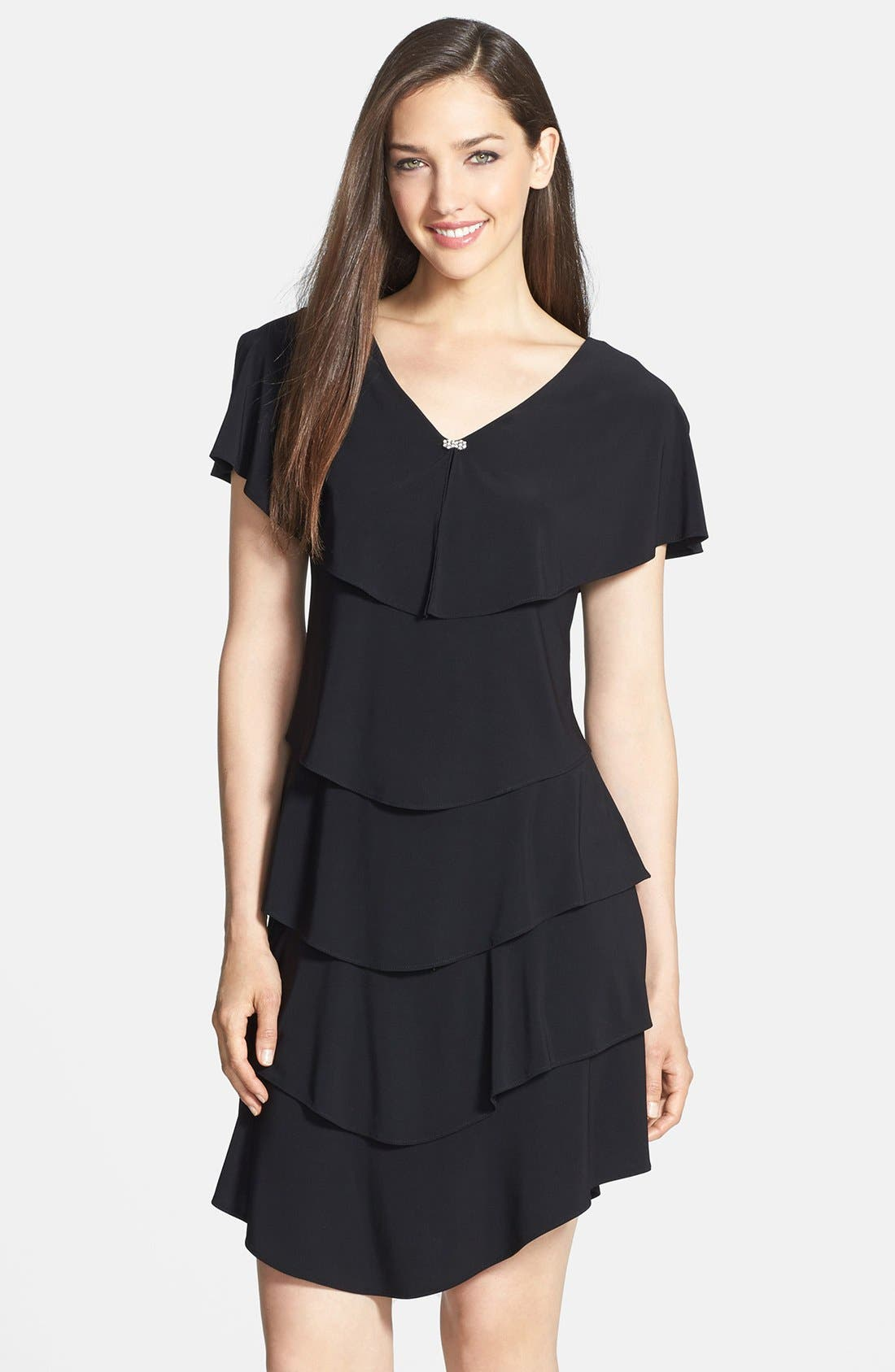 Main Image - Patra Embellished Tiered Jersey Dress
