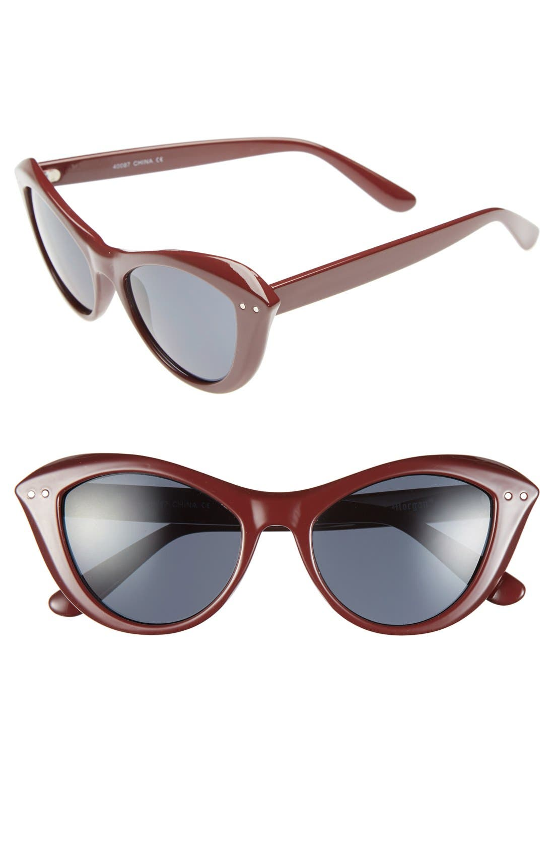 Main Image - A.J. Morgan 'Siren' 50mm Cat Eye Sunglasses