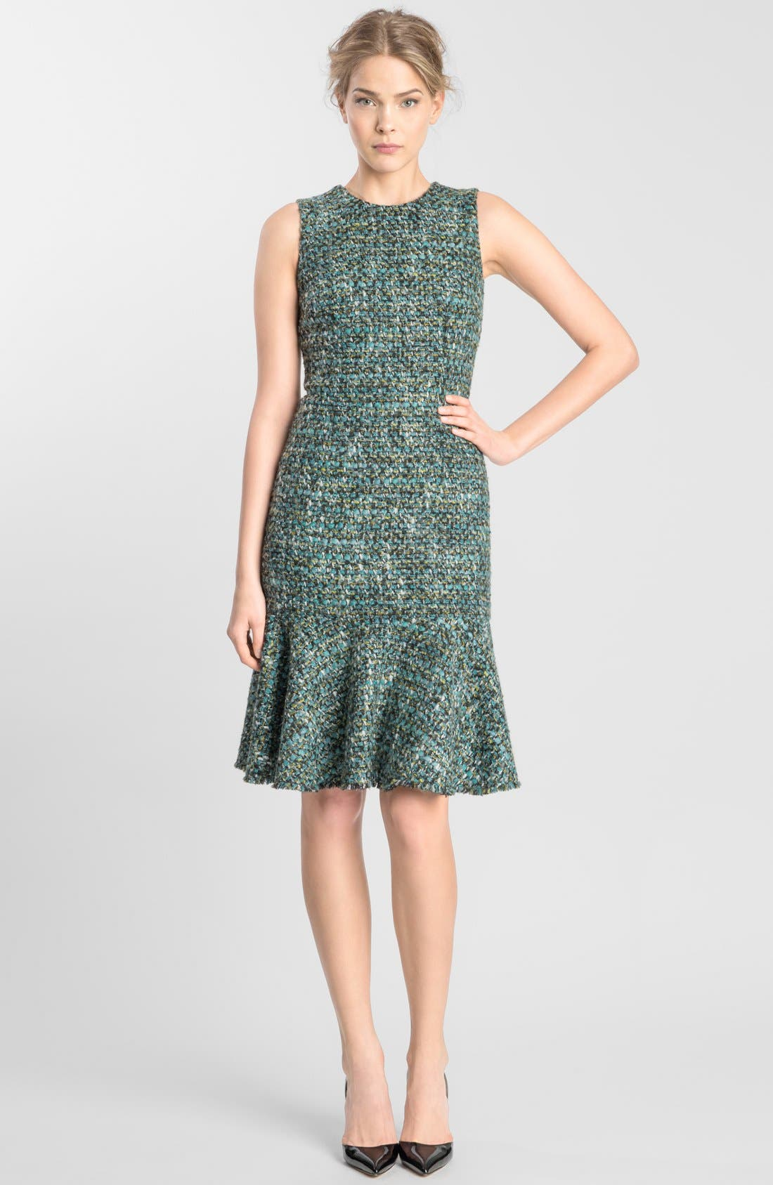 Main Image - Dolce&Gabbana Flared Tweed Dress