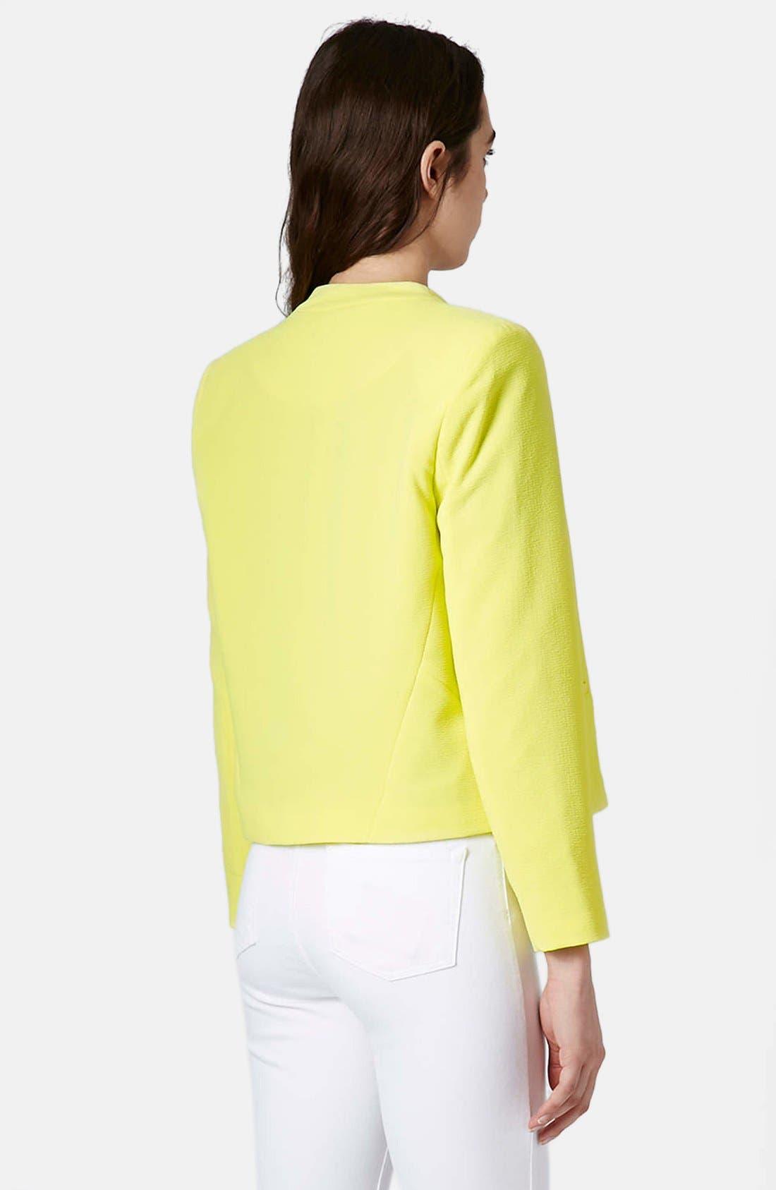 Alternate Image 2  - Topshop 'Kara' Crepe Crop Jacket