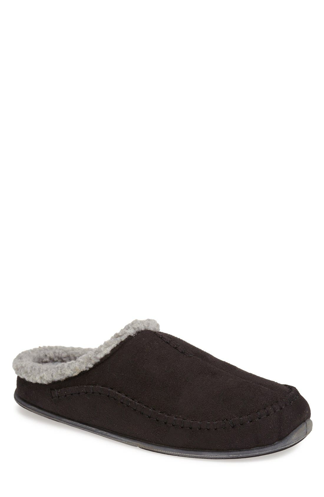 'Nordic' Slipper,                             Main thumbnail 1, color,                             Black
