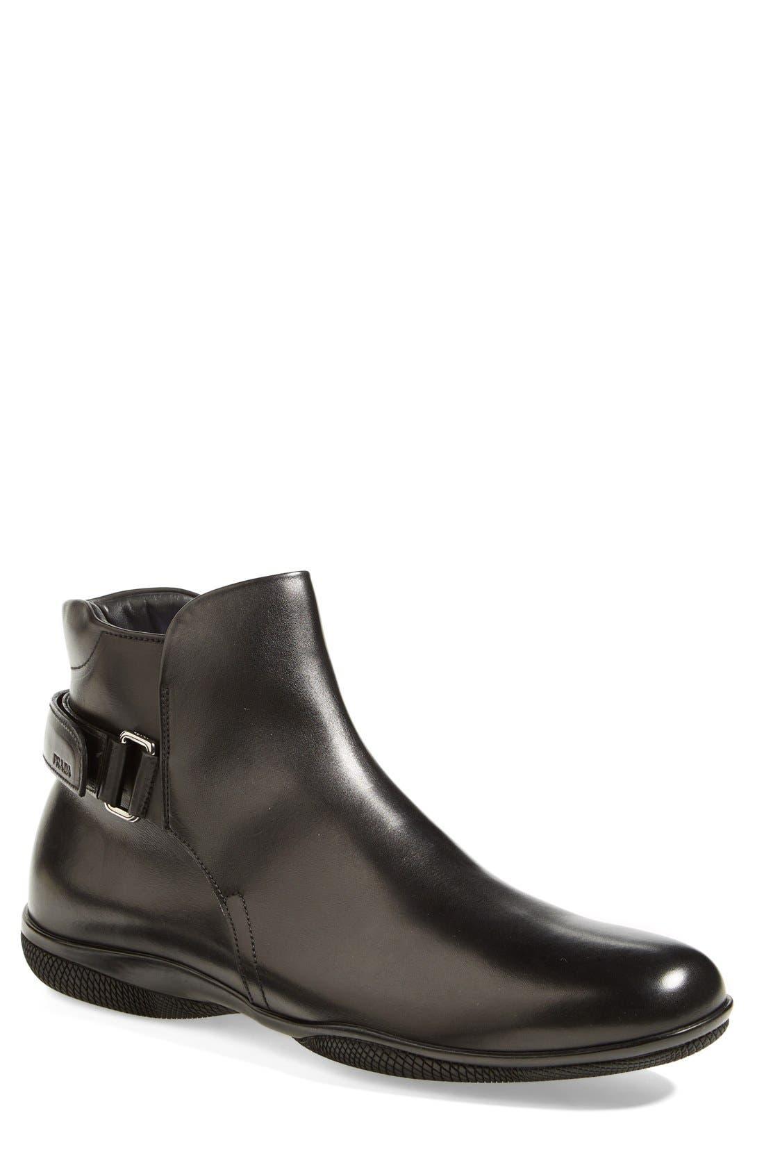 Alternate Image 1 Selected - Prada 'Toblak' Plain Toe Boot (Men)