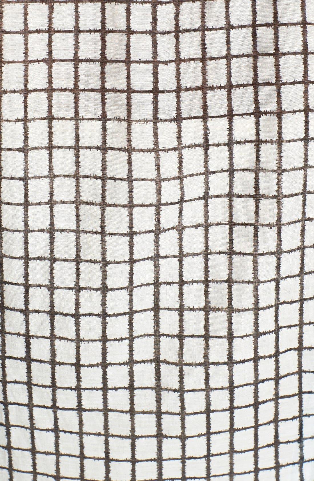 Alternate Image 3  - Halogen® Print Cotton & Silk Shirt (Regular & Petite)