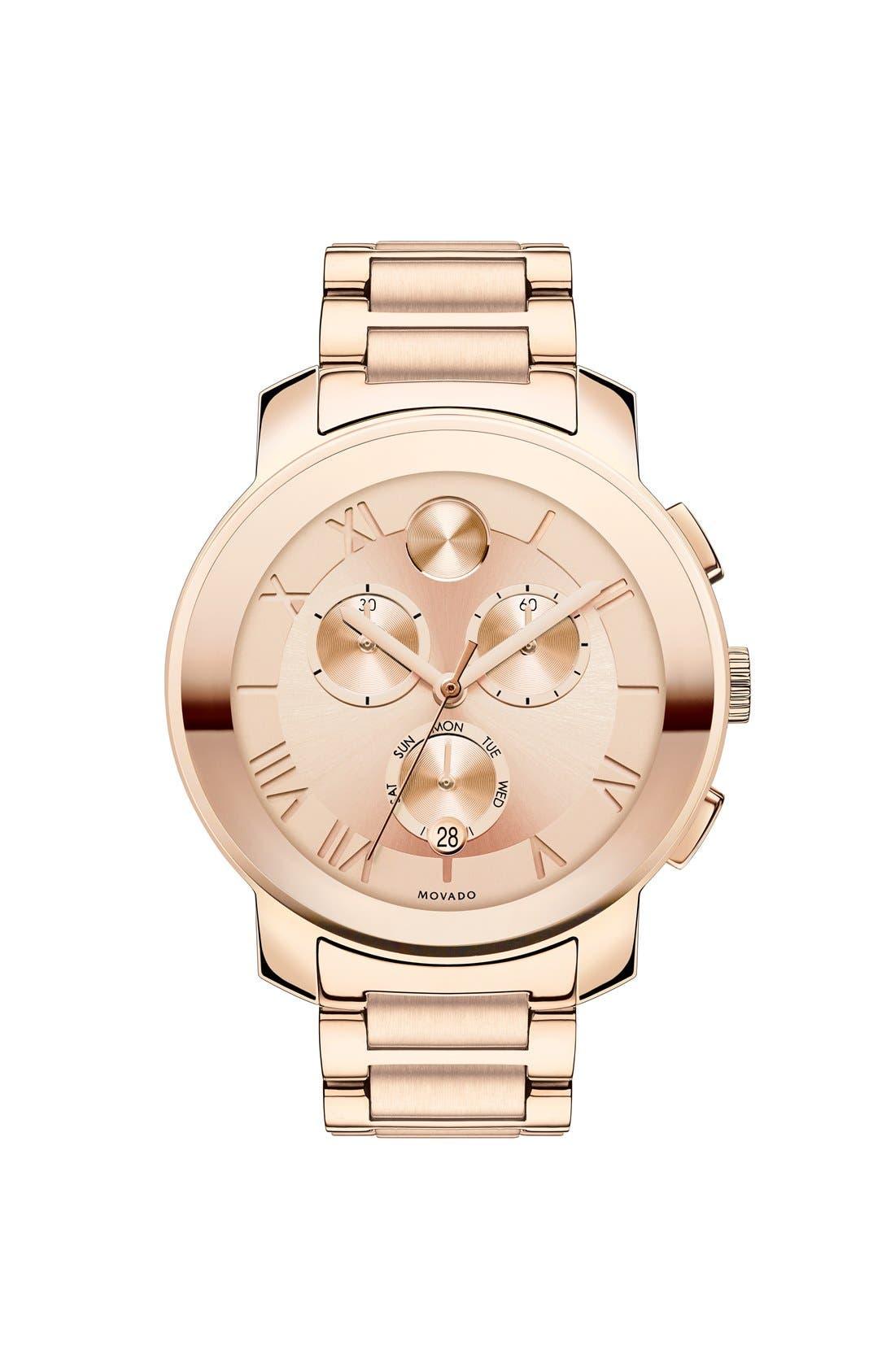 Alternate Image 1 Selected - Movado 'Bold' Round Multifunction Bracelet Watch, 40mm