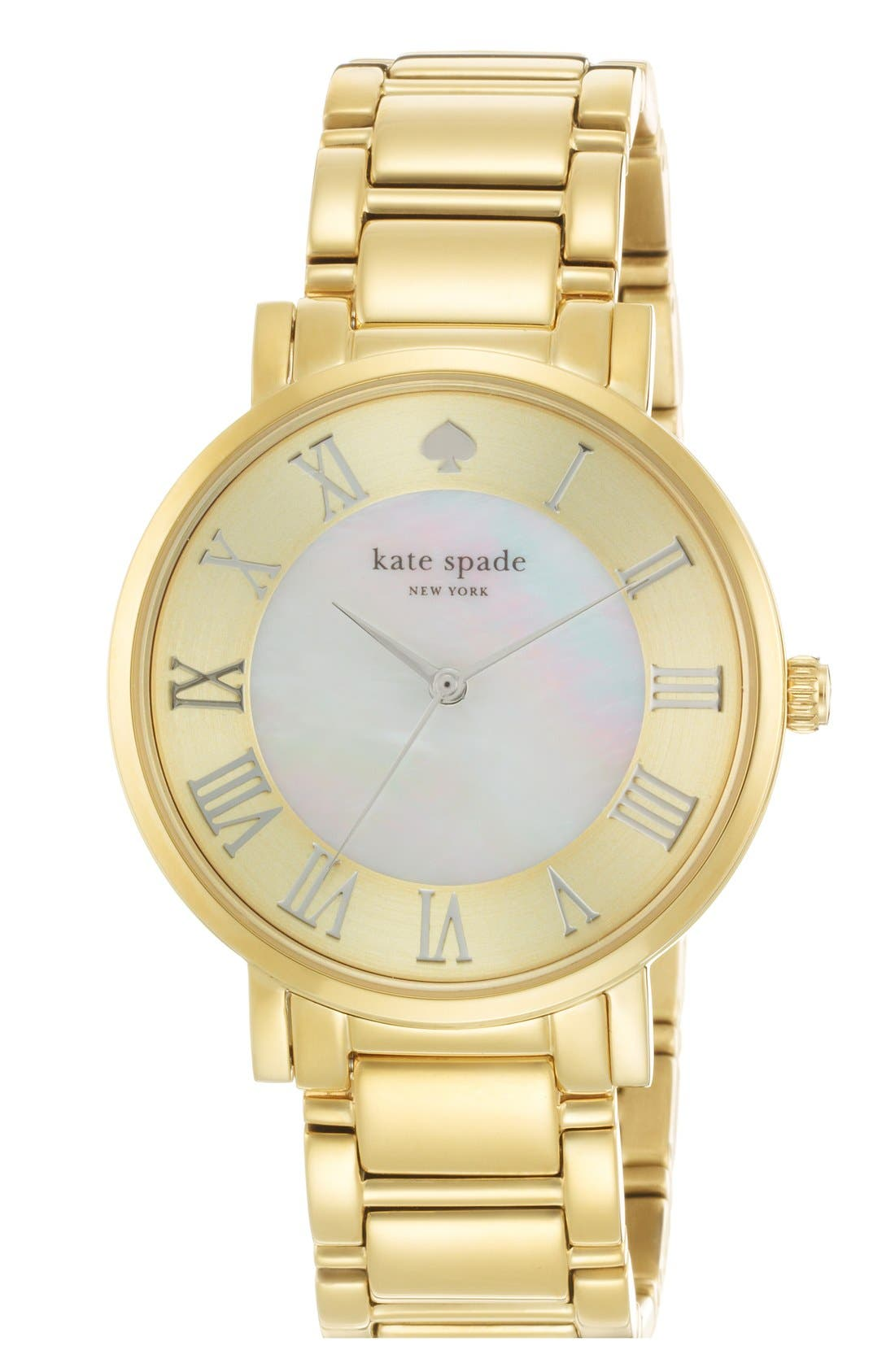 Alternate Image 1 Selected - kate spade new york 'gramercy grand' round bracelet watch, 38mm