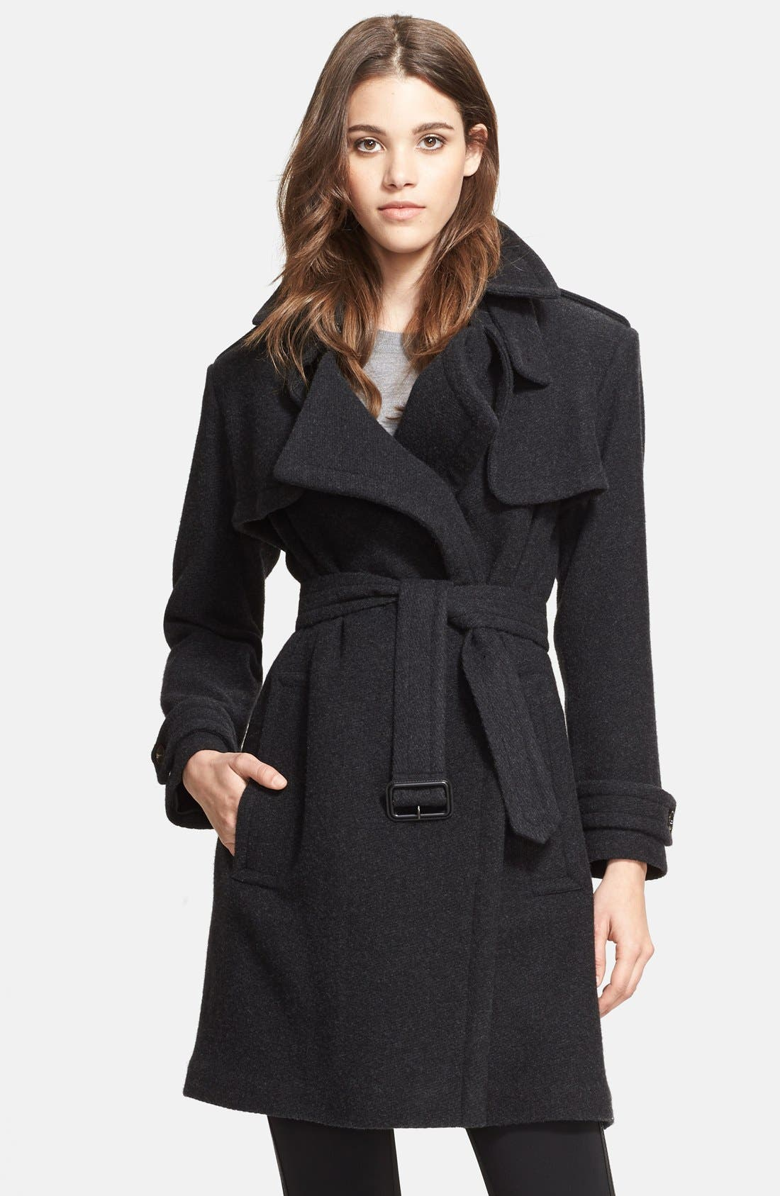 Alternate Image 1 Selected - Burberry London Cashmere Wrap Trench Coat