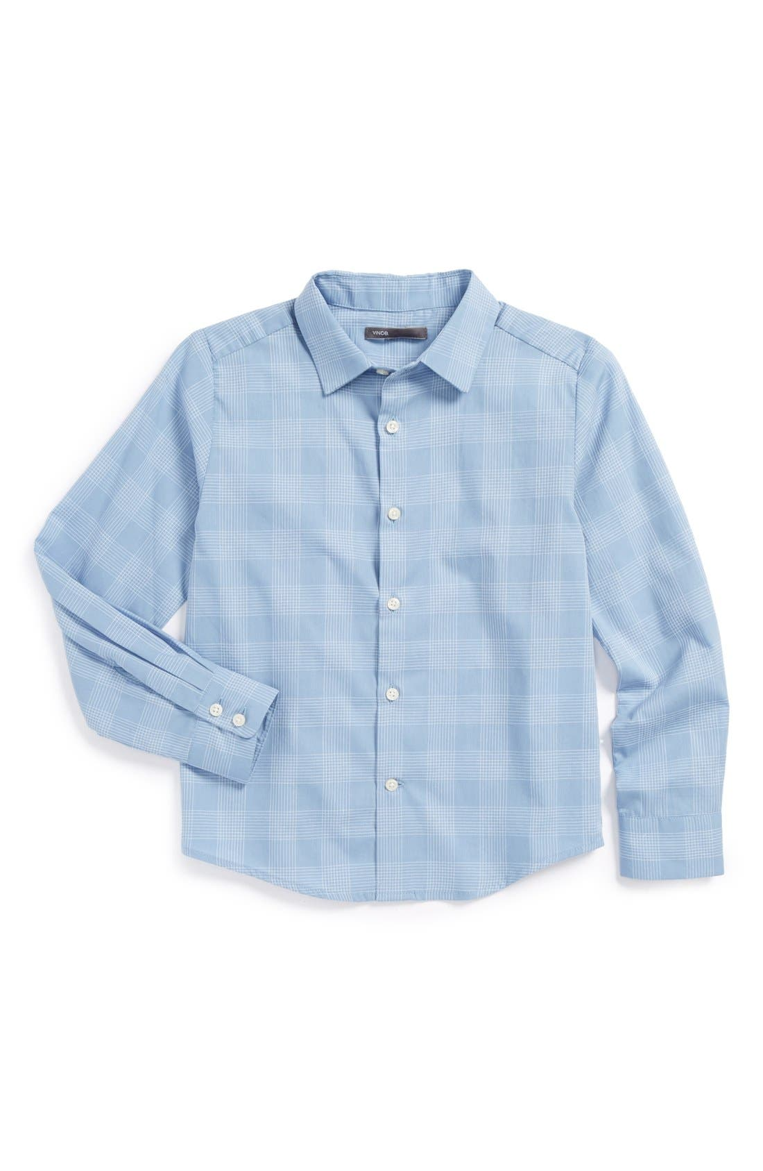 Alternate Image 1 Selected - Vince 'Dobby' Cotton Sport Shirt (Big Boys)