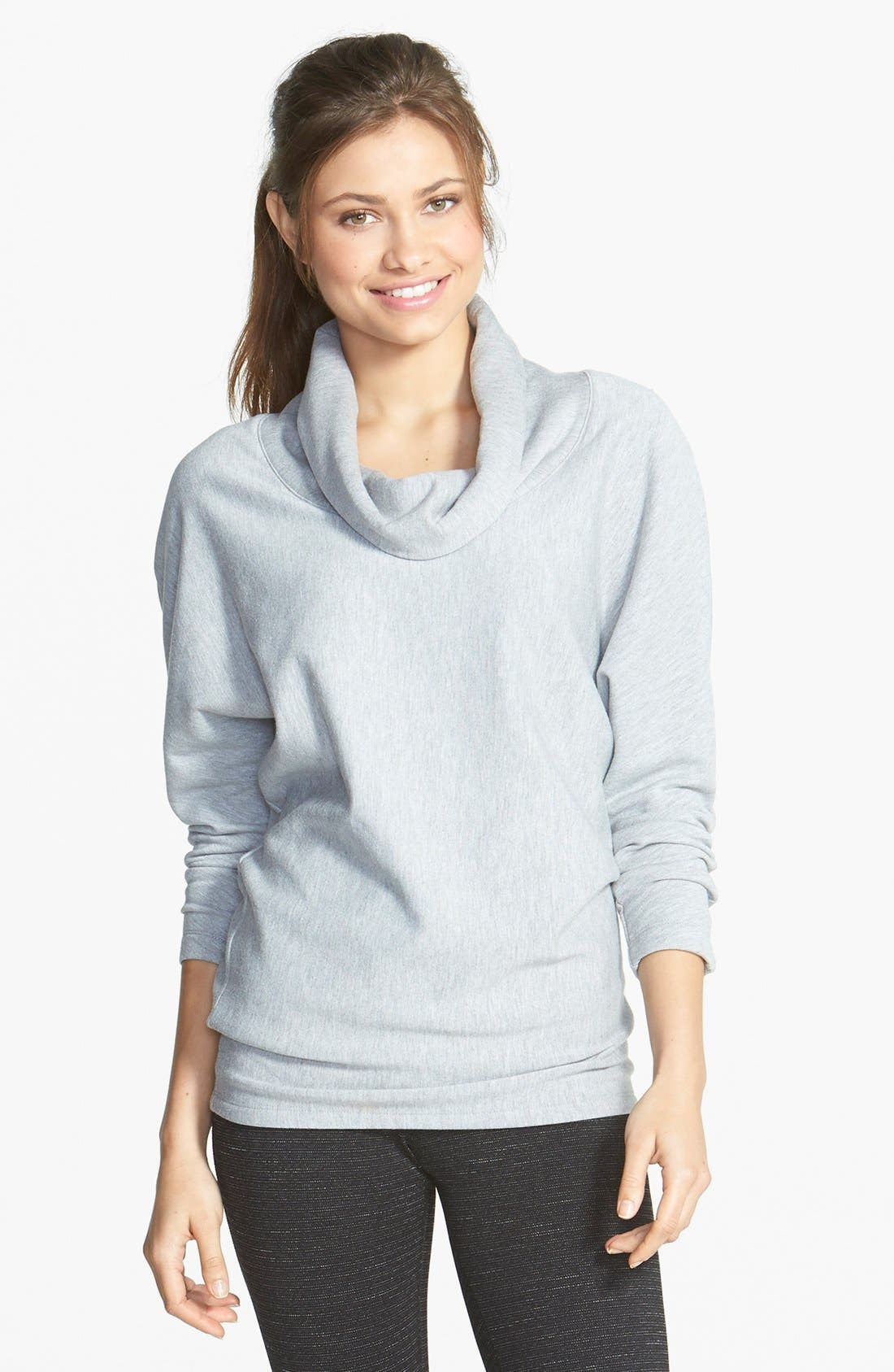 Main Image - Beyond Yoga Cowl Neck Dolman Sleeve Pullover (Online Only)