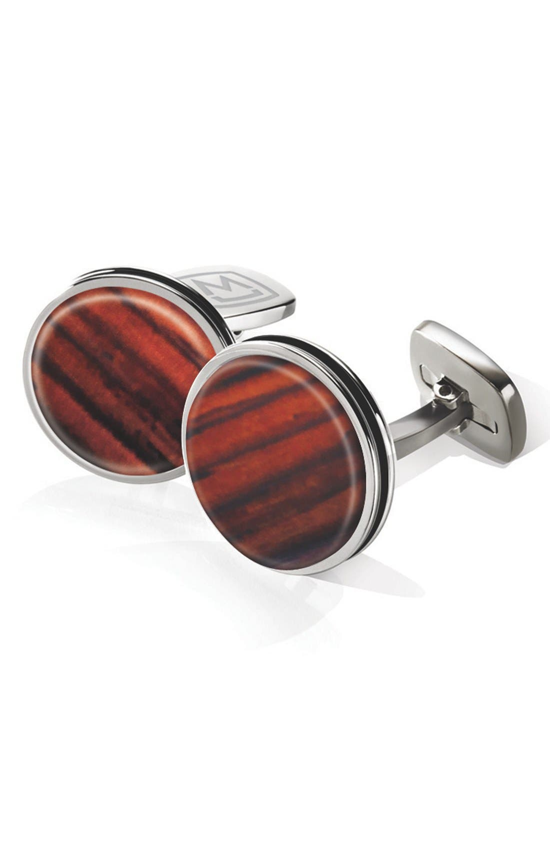 Cocobolo Cuff Links,                             Main thumbnail 1, color,                             Stainless Steel/ Cocobolo