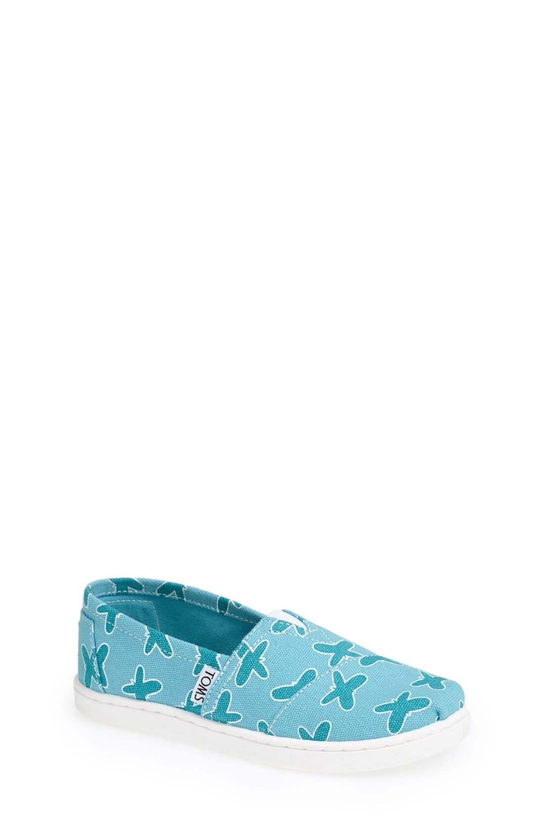 Alternate Image 1 Selected - TOMS 'Classic Youth - Butterfly' Slip-On (Toddler, Little Kid & Big Kid)