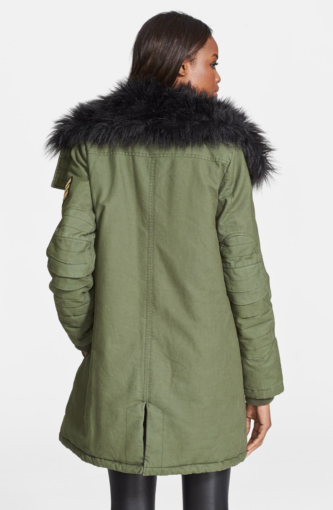 Alternate Image 2  - Zadig & Voltaire 'Kily' Faux Fur Collar Military Jacket