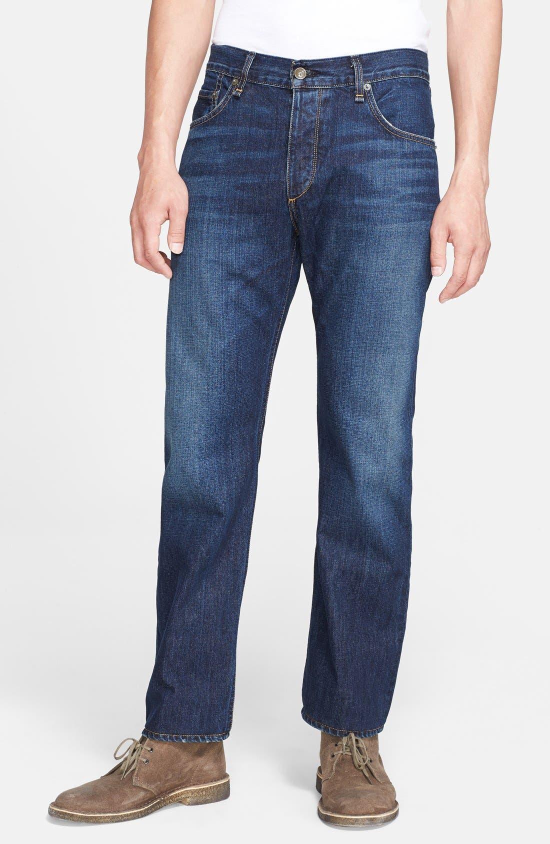 Alternate Image 1 Selected - rag & bone 'RB15X' Slim Straight Leg Jeans (Berkely Blue)