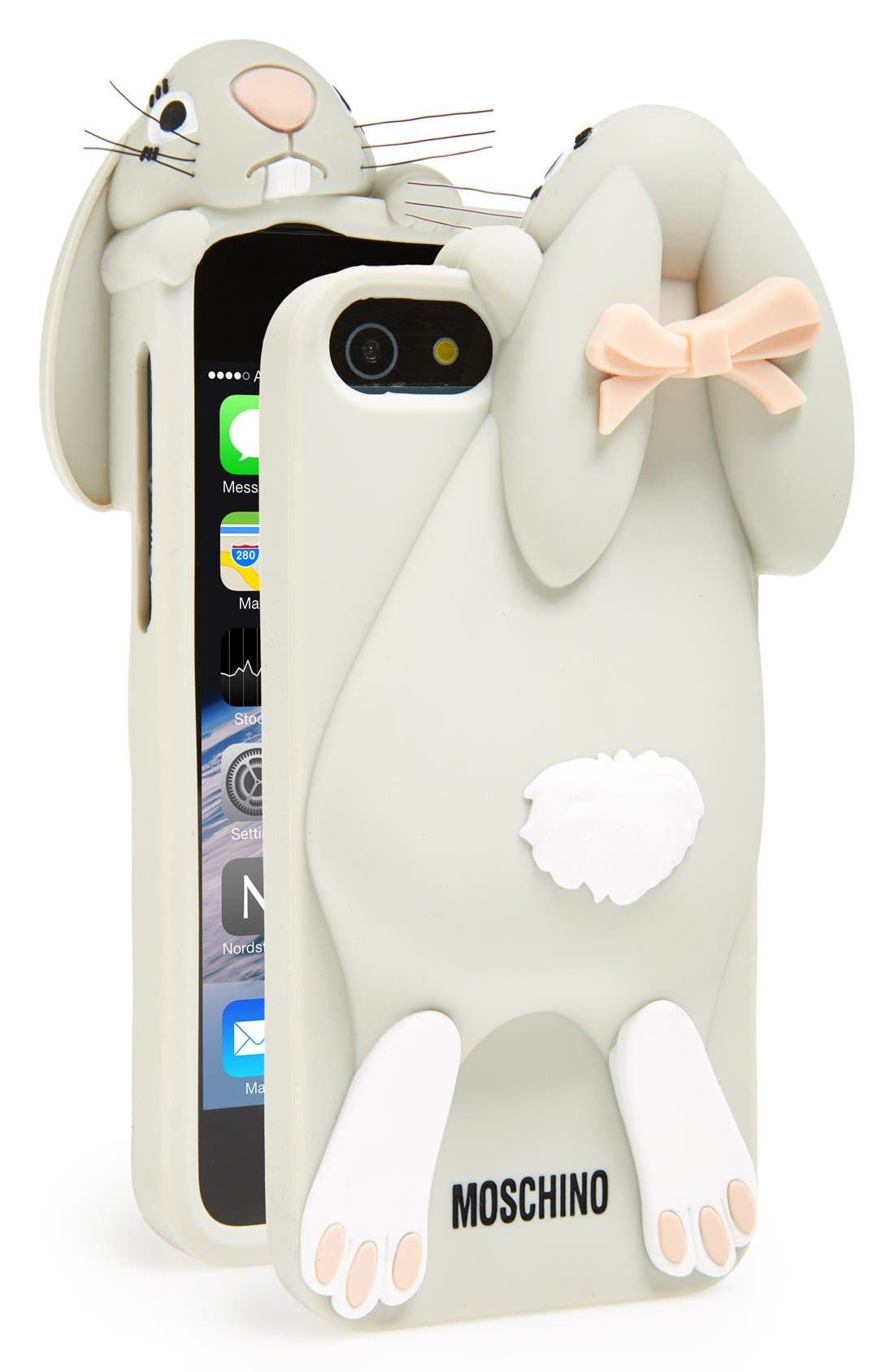 Main Image - Moschino 'Rabbit' 3D Rubber iPhone 5 Case