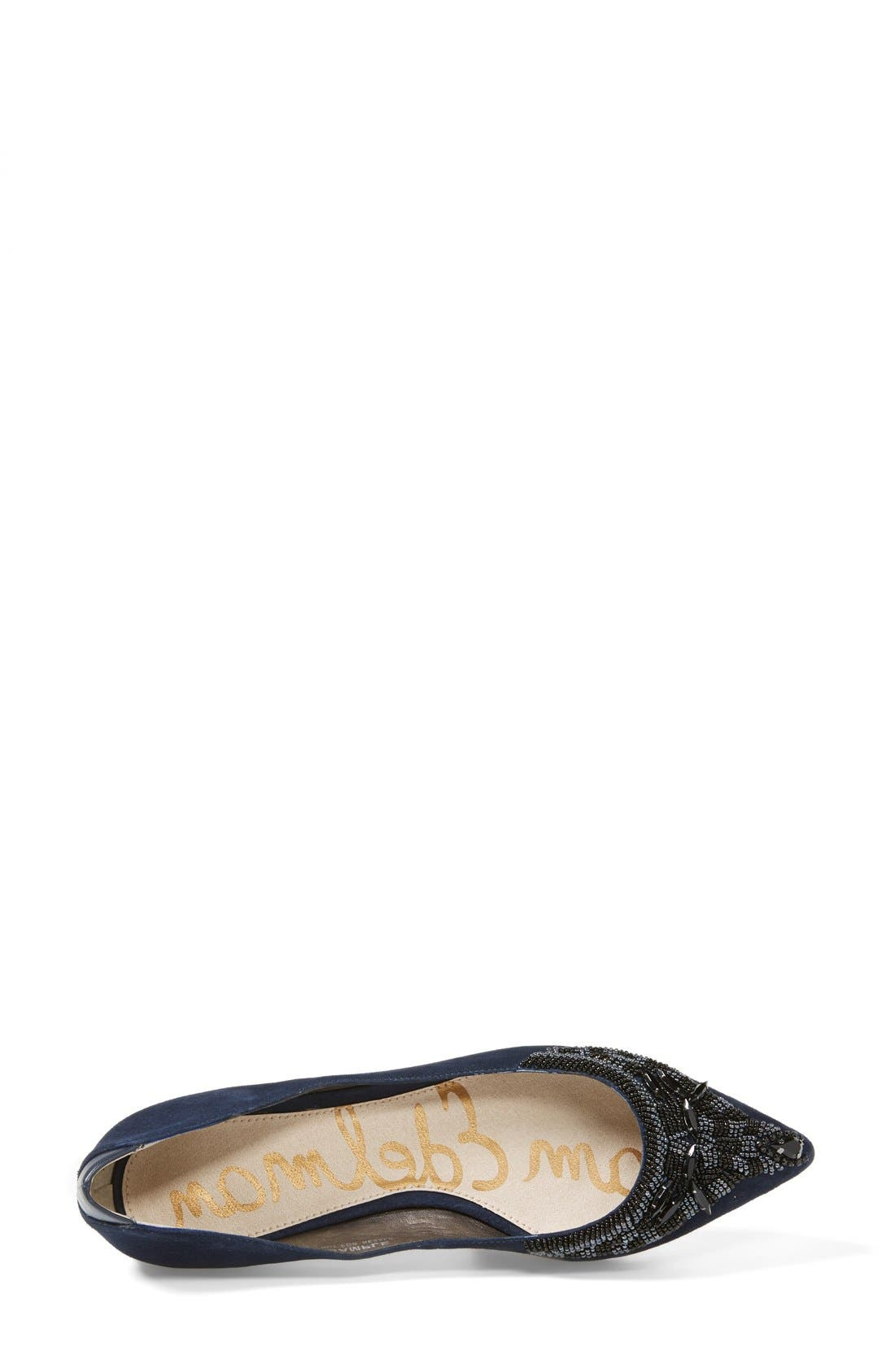 Alternate Image 3  - Sam Edelman 'Cindi' Beaded Pointy Toe Flat (Women)
