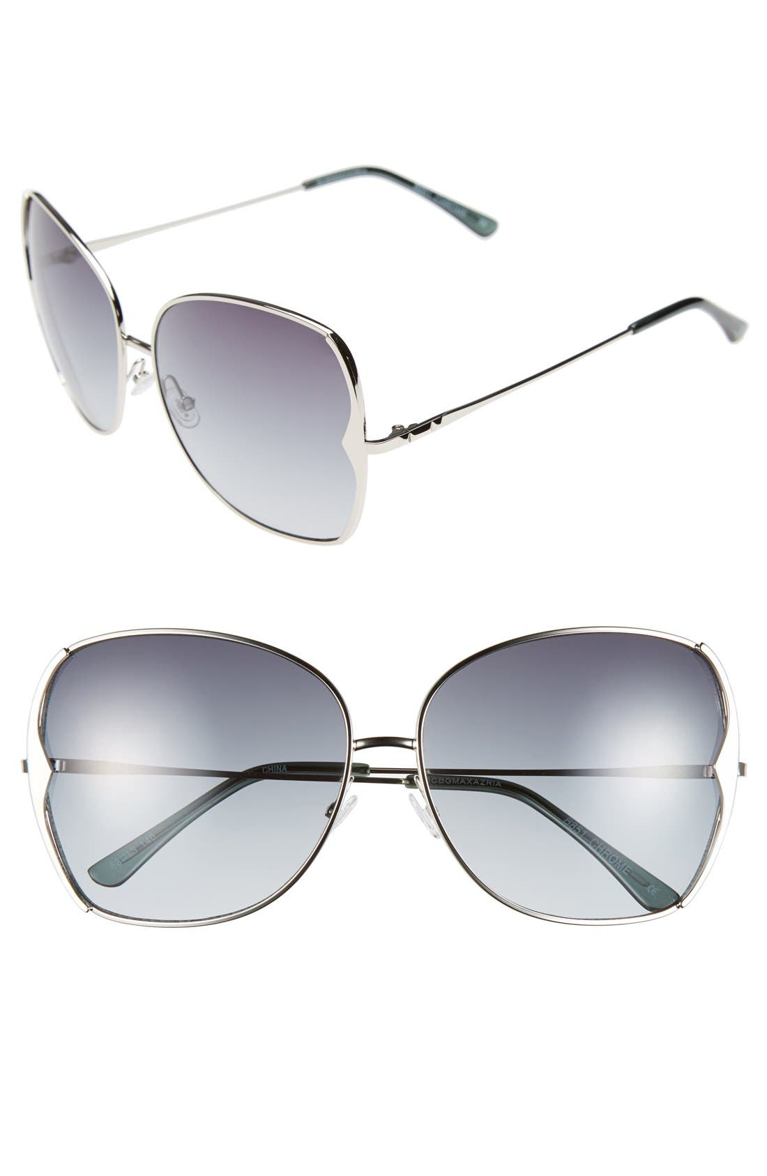 Main Image - BCBGMAXAZRIA 63mm Butterfly Sunglasses