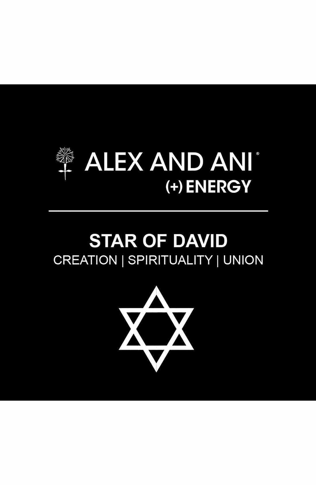 Alternate Image 2  - Alex and Ani 'Star of David' Expandable Wire Bangle