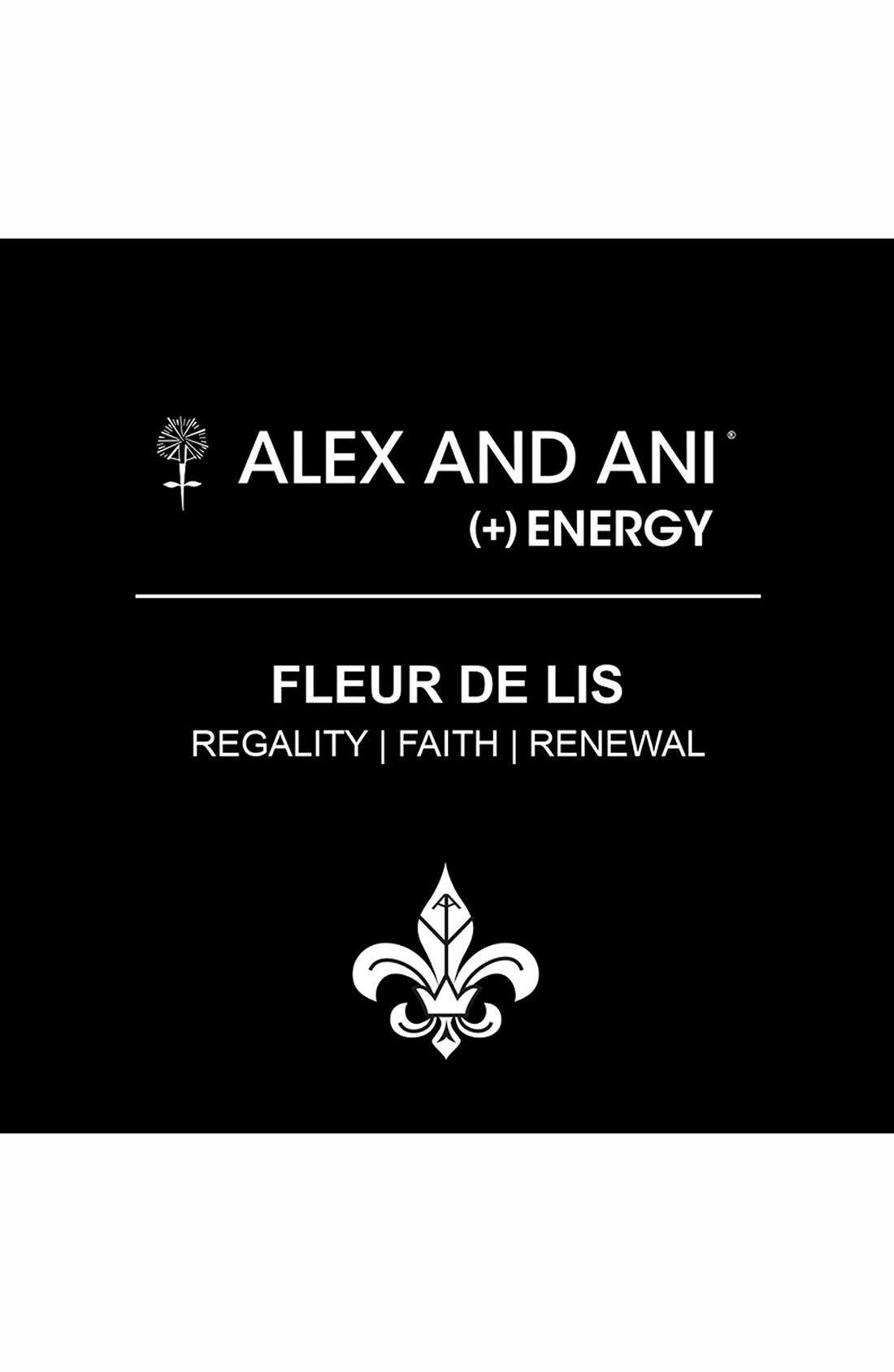 Alternate Image 3  - Alex and Ani 'Fleur de Lis' Expandable Wire Bangle