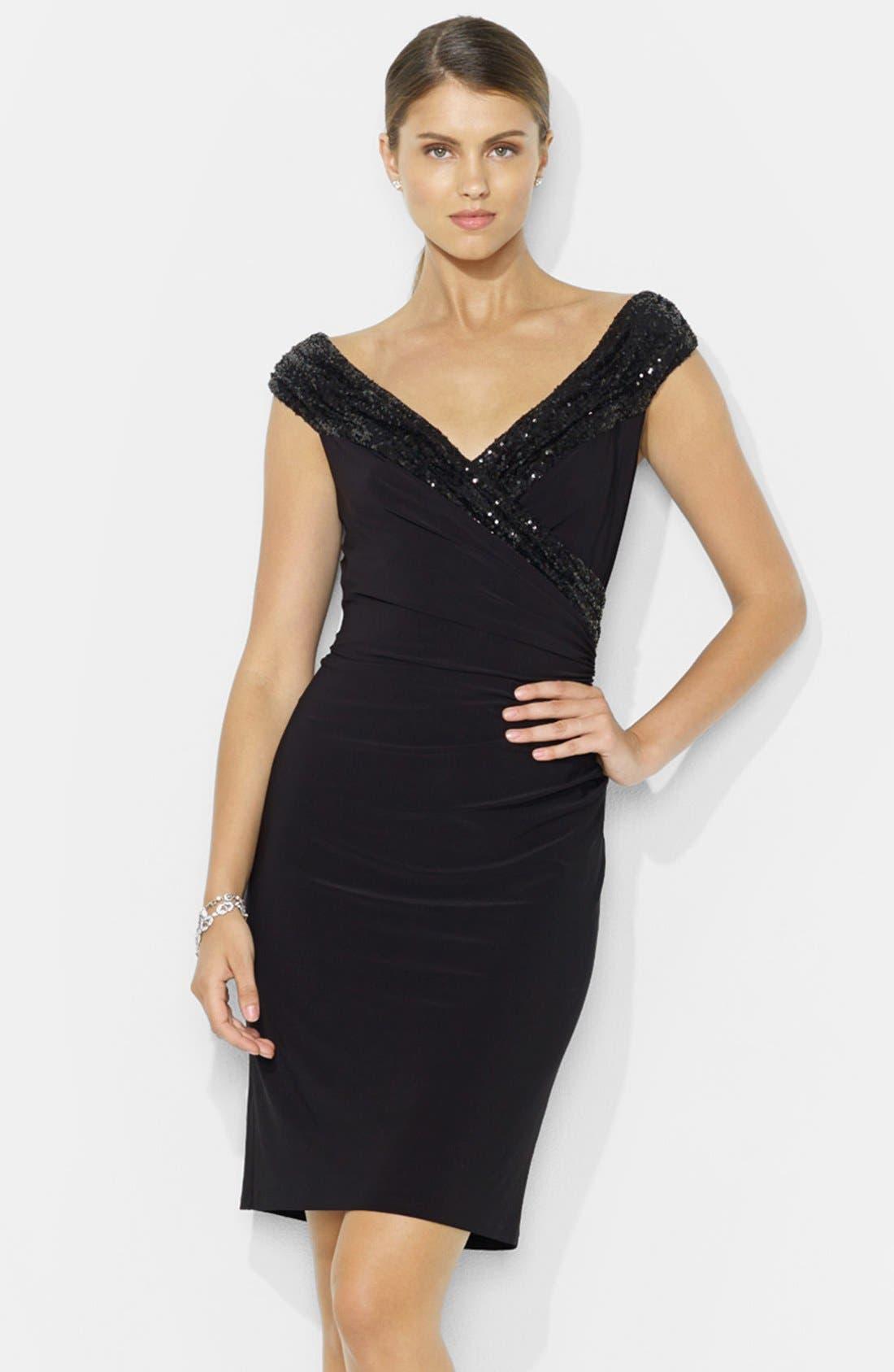 Main Image - Lauren Ralph Lauren Sequin Sheath Dress