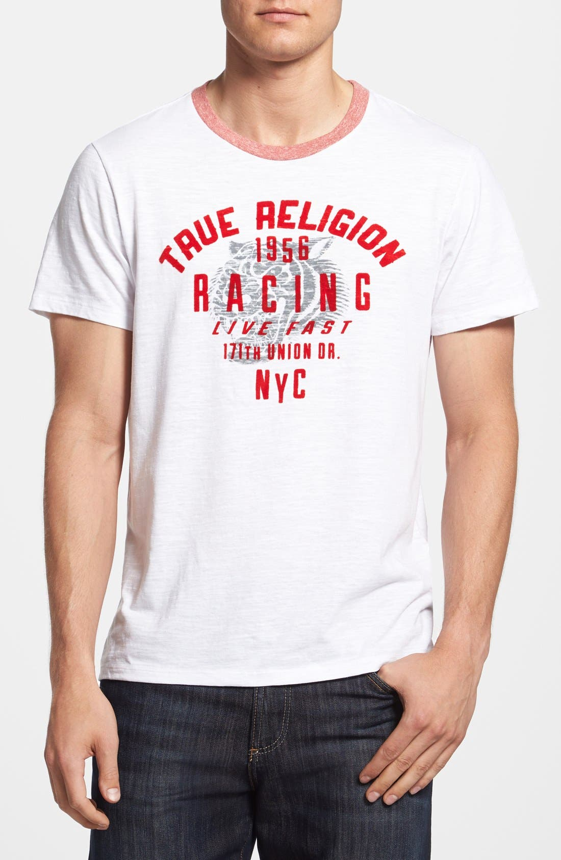 Alternate Image 1 Selected - True Religion Brand Jeans '1956 Races' Graphic T-Shirt